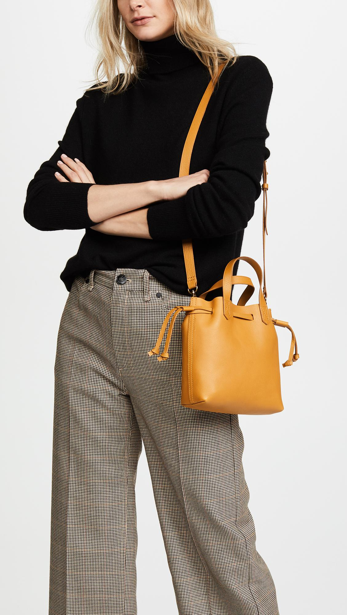 e42132944 Madewell Mini Pocket Transport Tote With Drawcord - Lyst