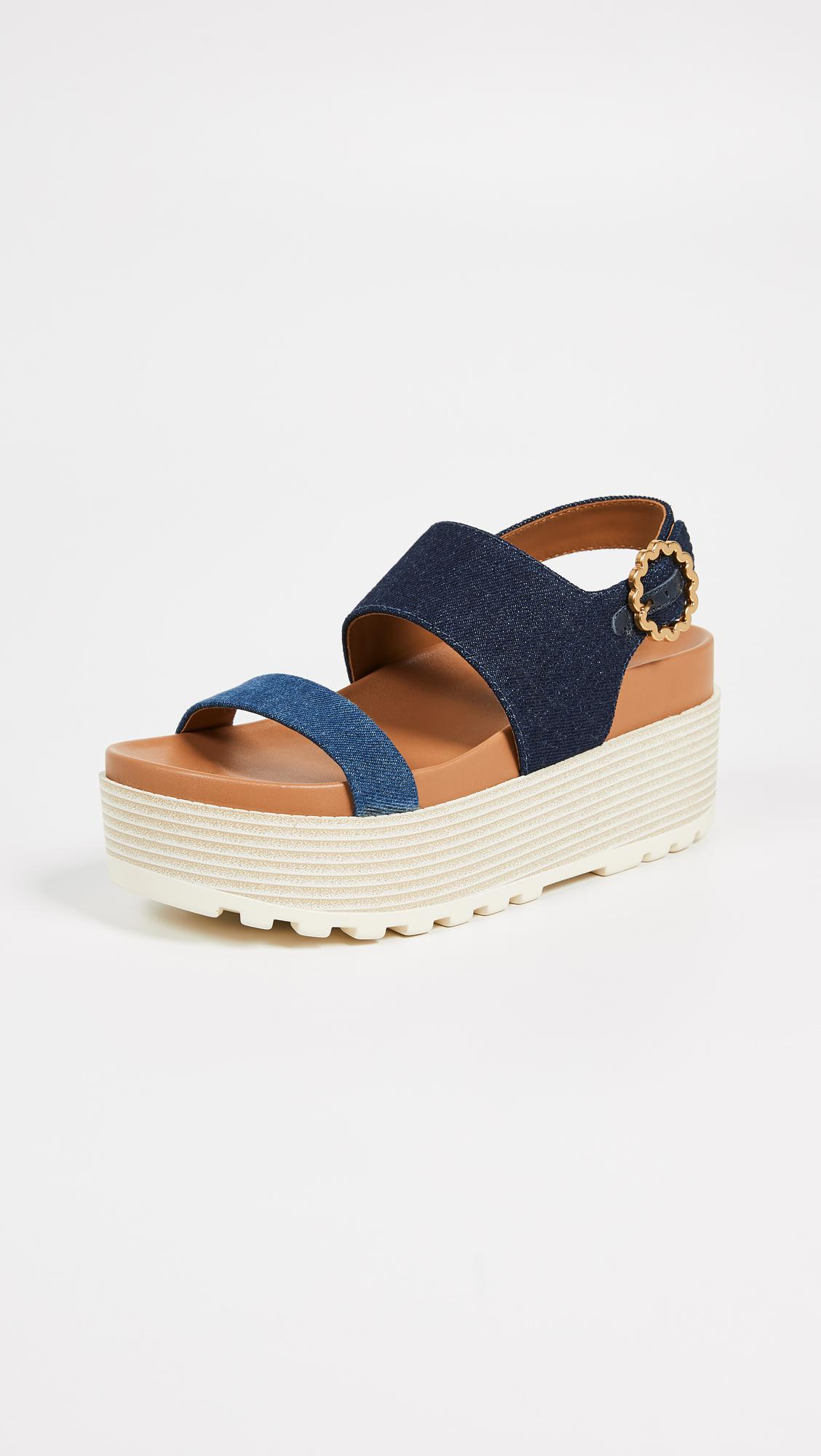 7de8c9b5ec11b7 Lyst - See By Chloé Jenna Platform Sandals in Blue