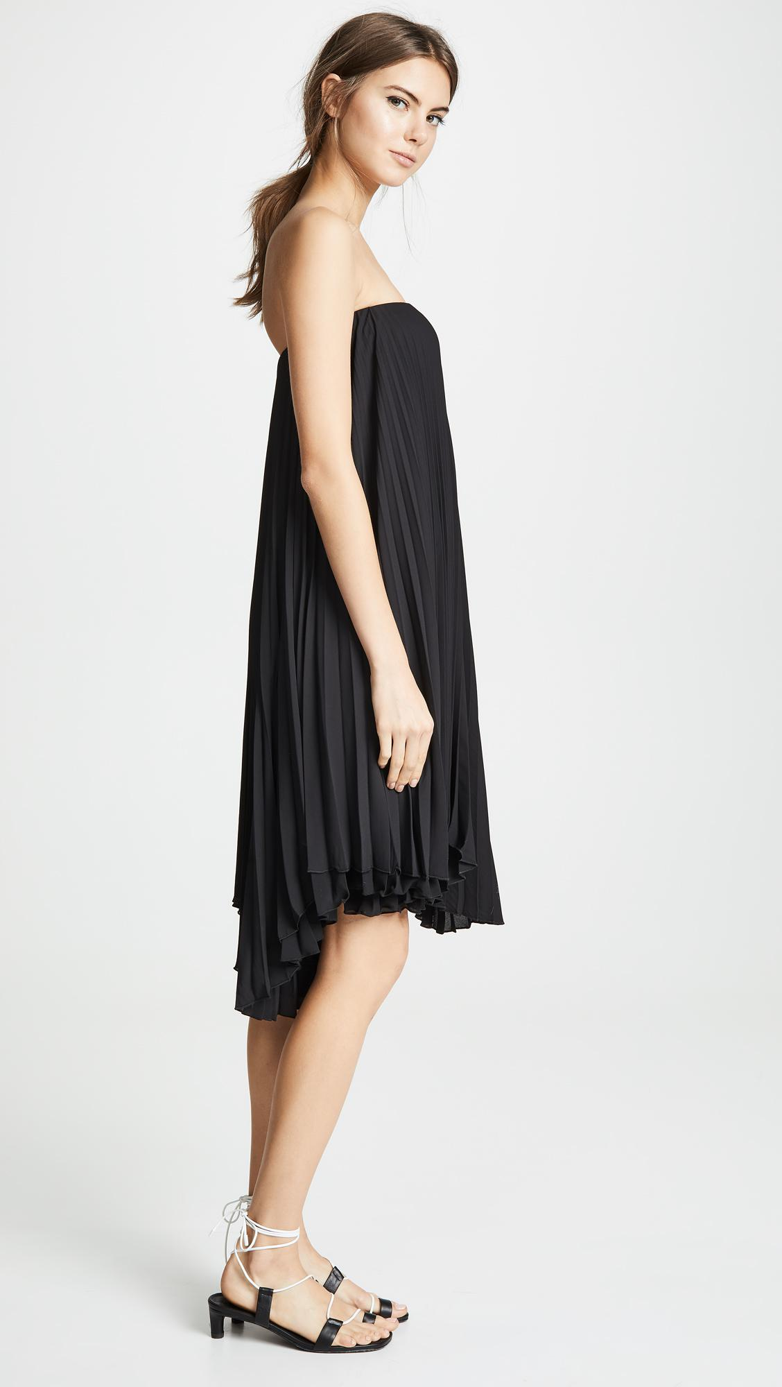 1a1dcb5c4a Loyd Ford Pleated Mini Dress in Black - Lyst
