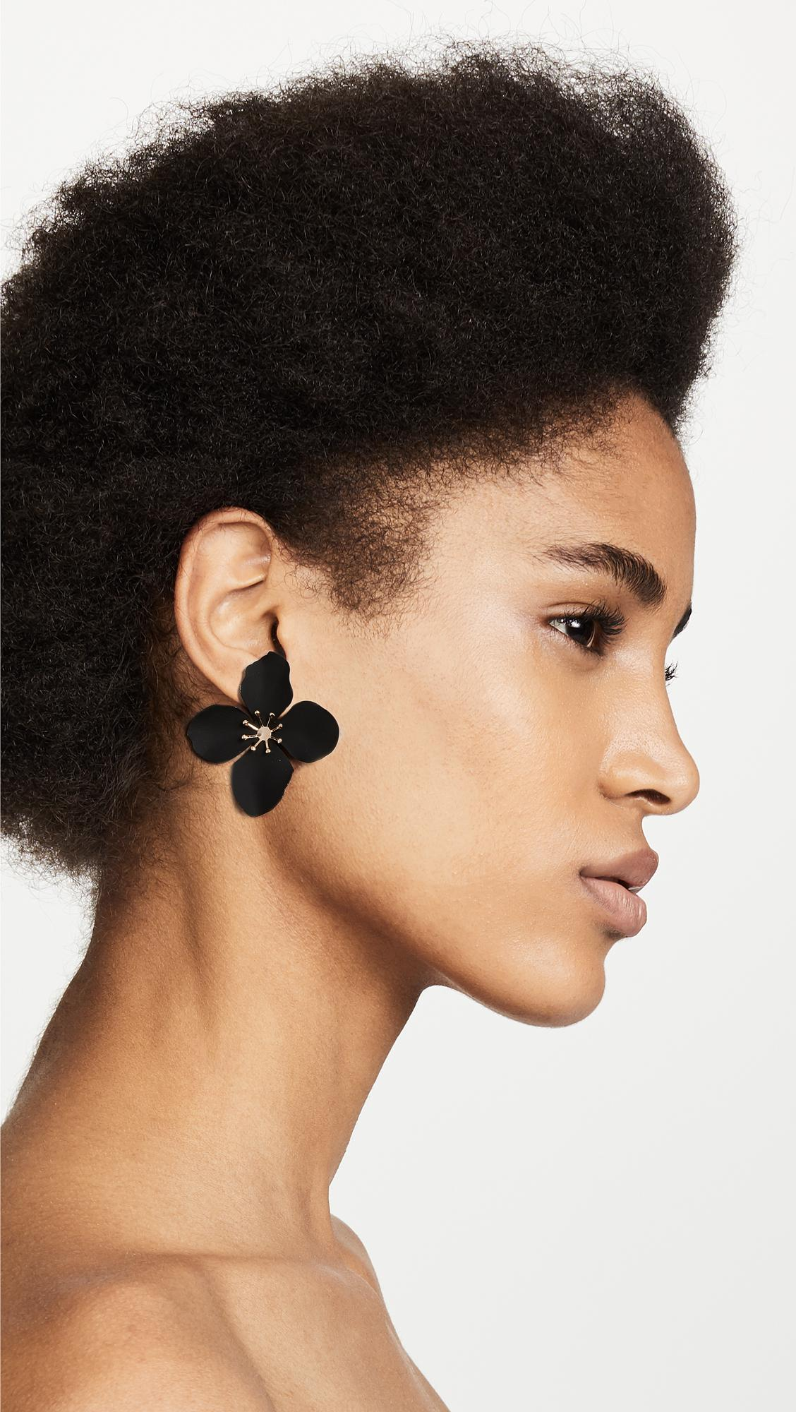 black de renta loading drop by flower moda operandi impatiens la oscar large earrings