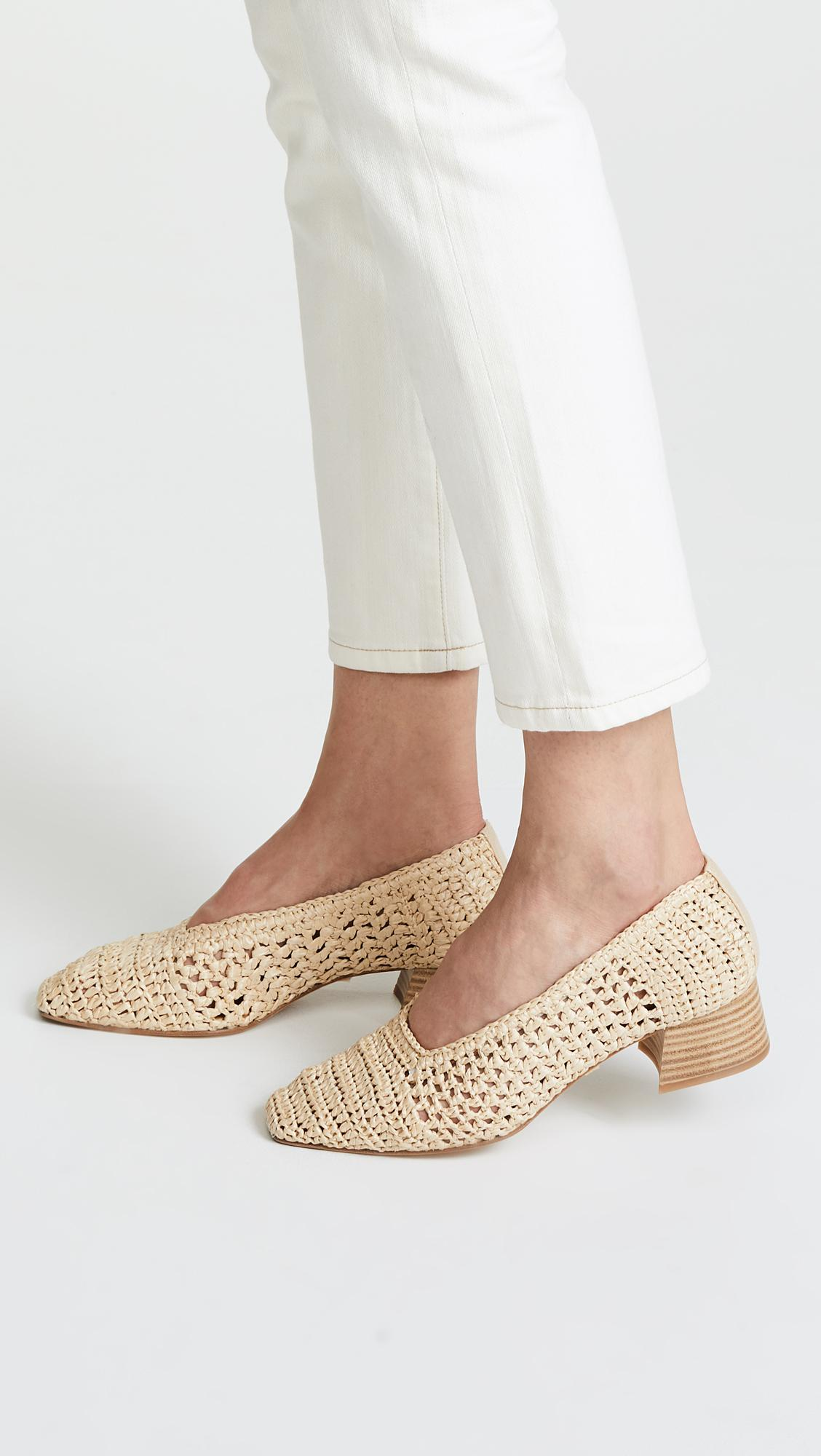 c42ee61b011 Miista - Natural Noa Woven Pumps - Lyst. View fullscreen