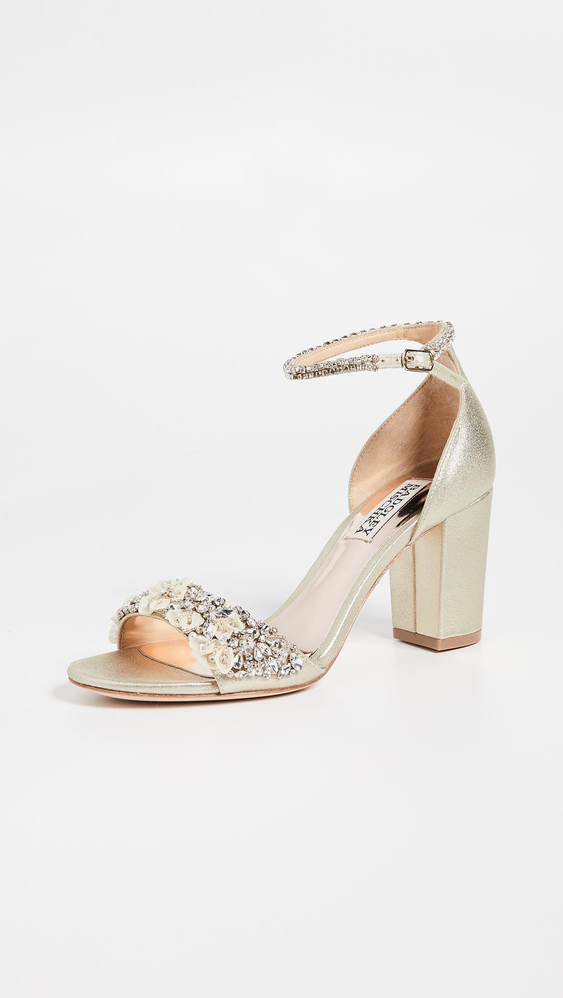 02a22c5c3 Badgley Mischka. Women s Finesse Ii Block Heel Sandals