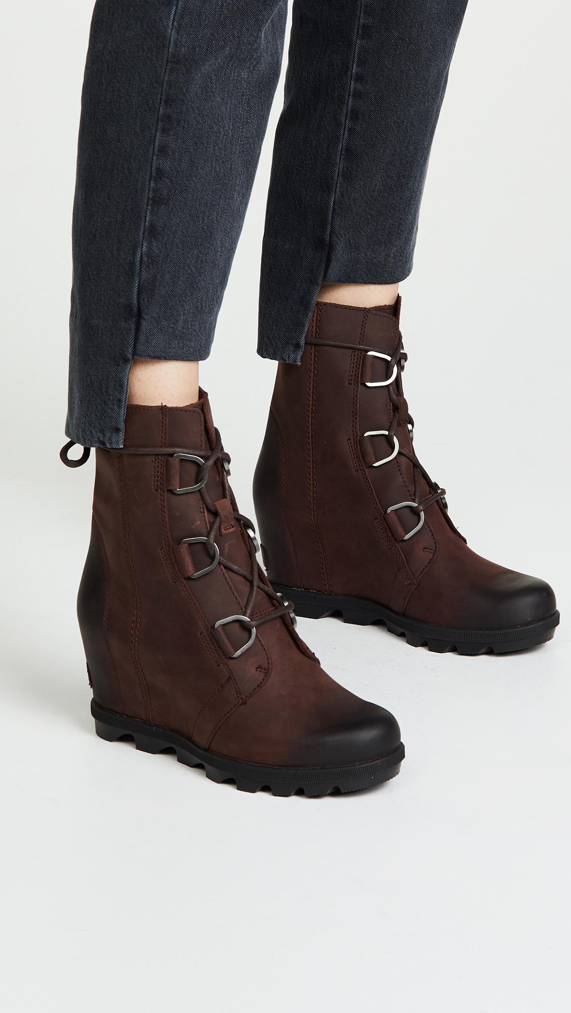 89f636ae6ec Sorel - Brown Joan Of Arctic Wedge Ii Boots - Lyst. View fullscreen