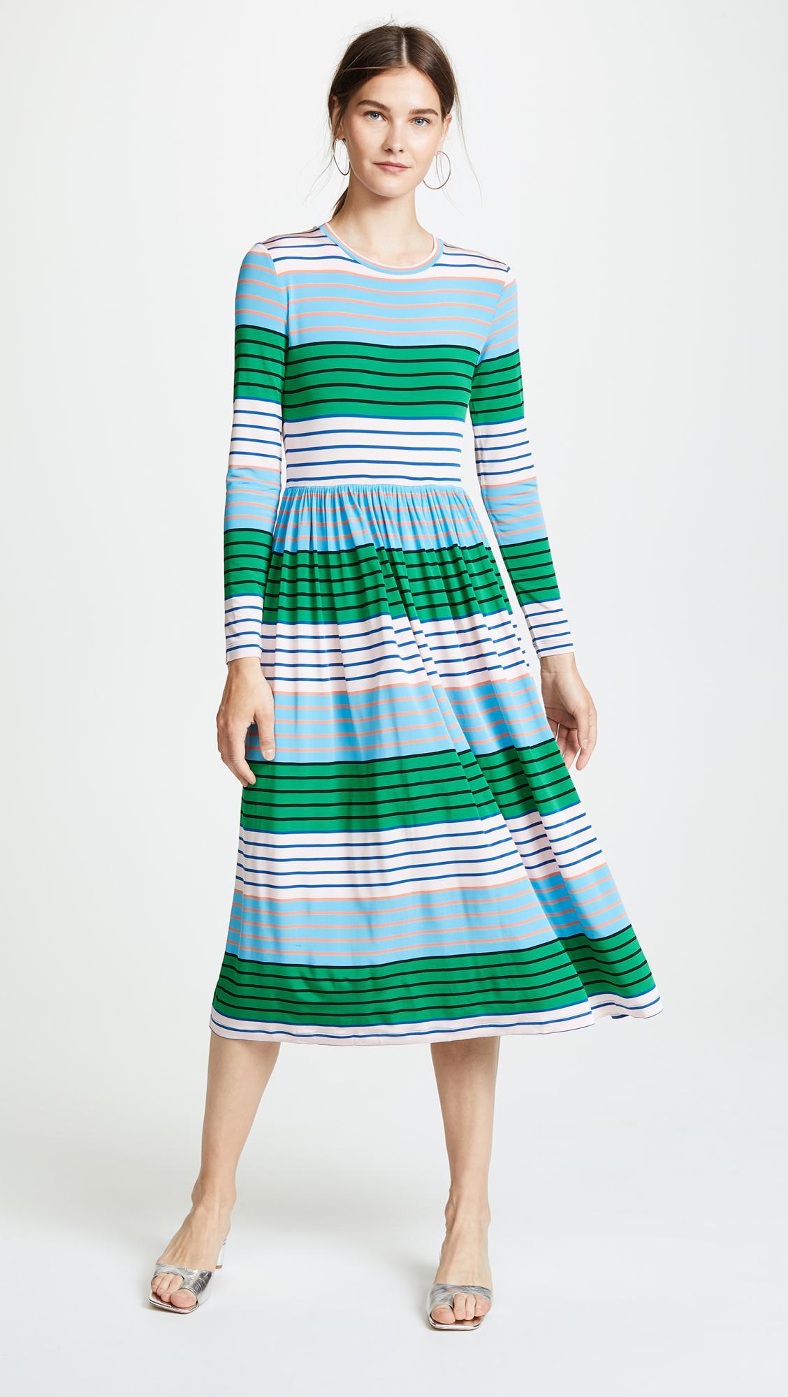 624a62bd0f7 Stine Goya Joel Dress in Green - Lyst