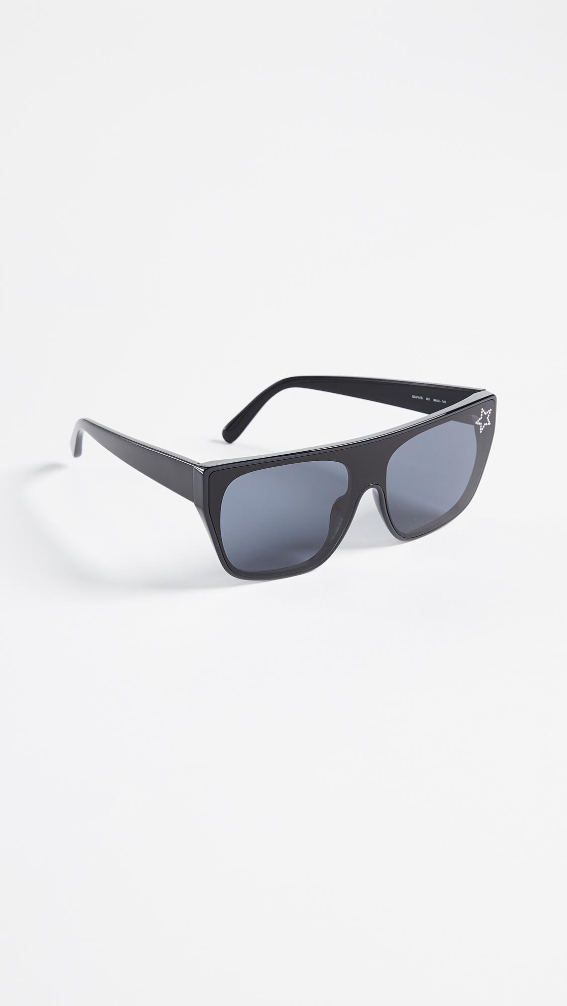 4c8a7a5586 Lyst - Stella McCartney Rectangular Sunglasses With A Masked Lens in ...