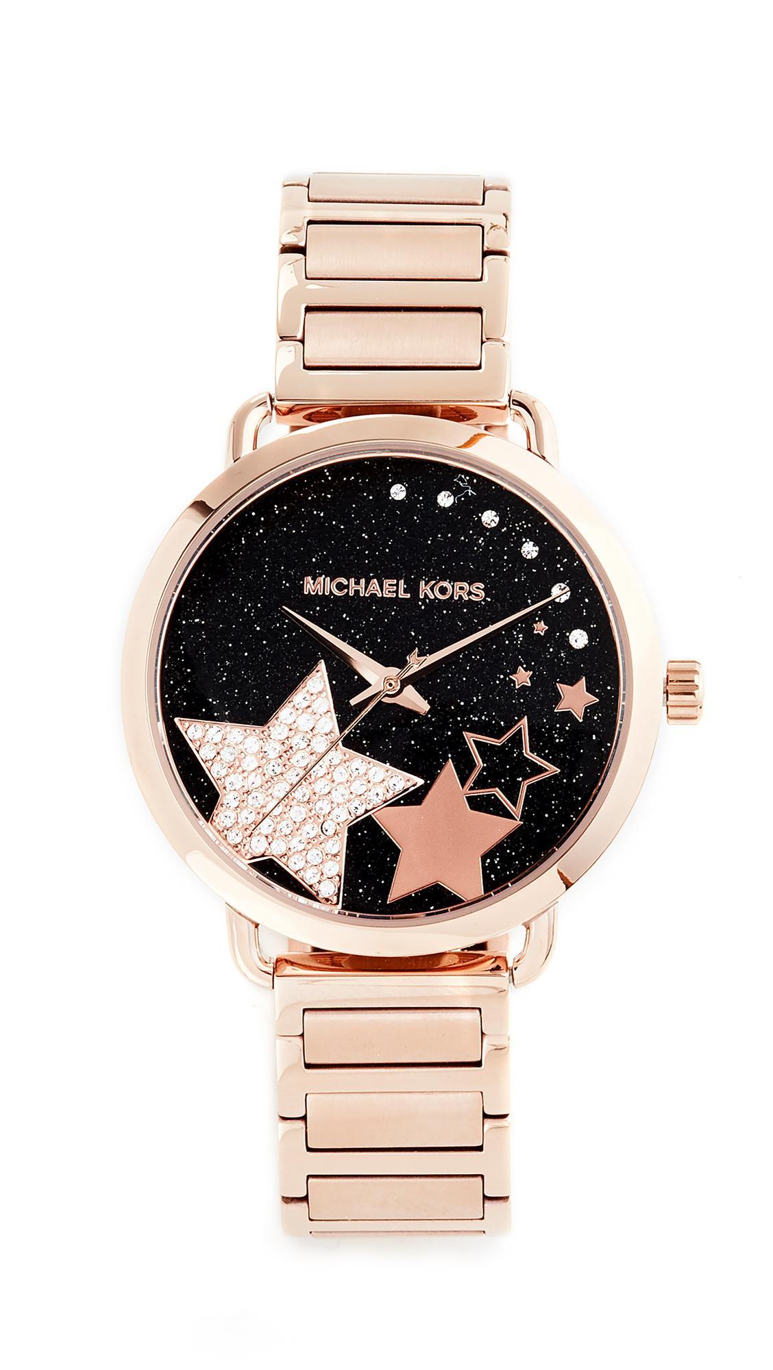 8b56501297a8 Lyst - Michael Kors Celestial Portia Watch