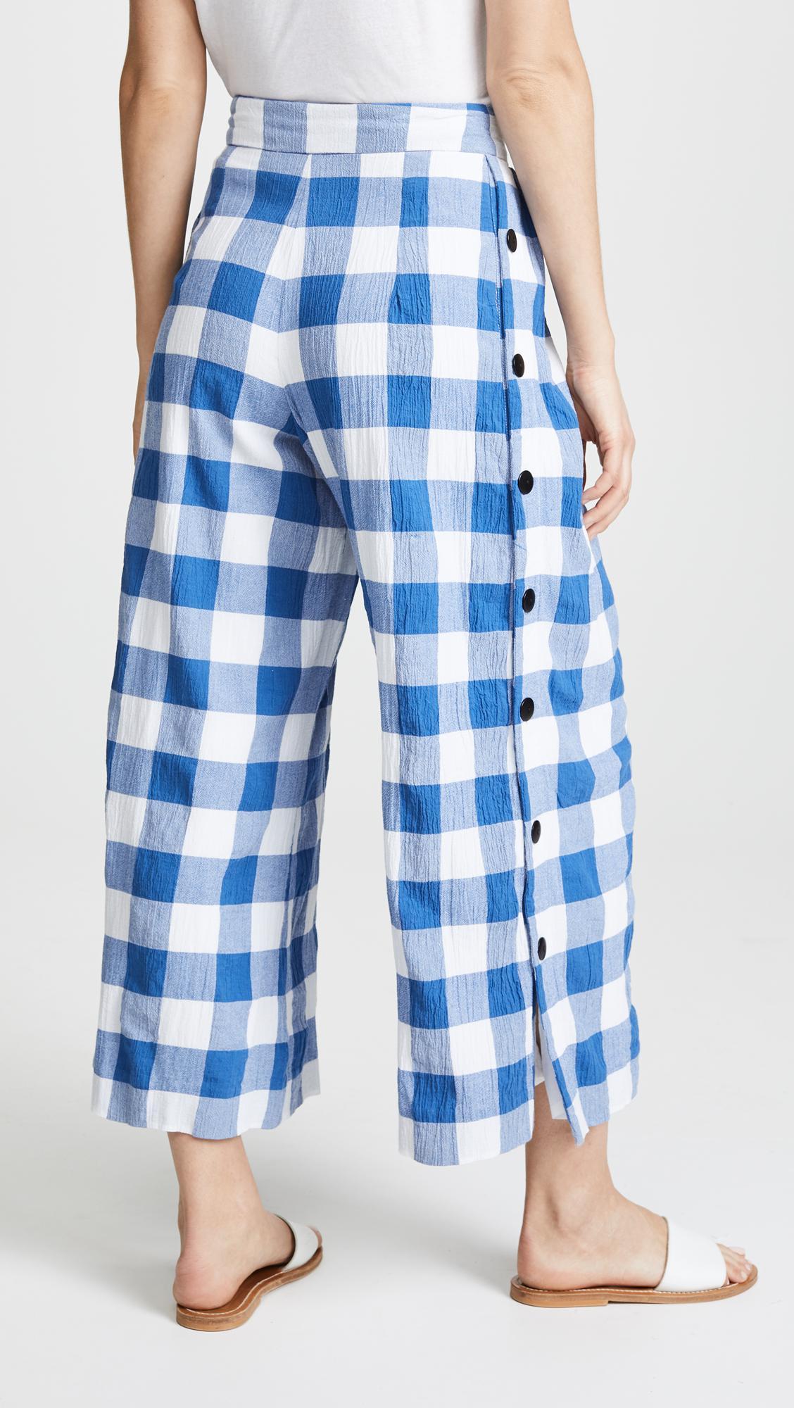 Angie Haute Comparer La Taille Des Pantalons De Coton Biologique - Bleu Mara Hoffman xDwsXEQN