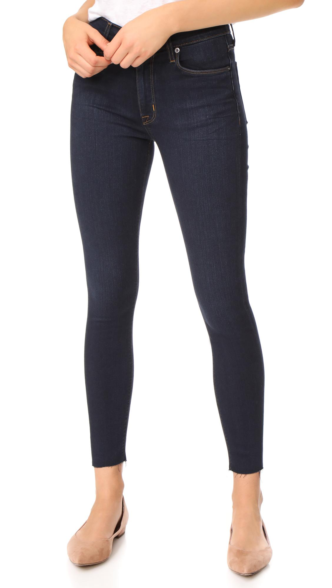 67371a68c97 Lyst - Hudson Jeans Barbara High Waist Super Skinny Jeans With Raw ...