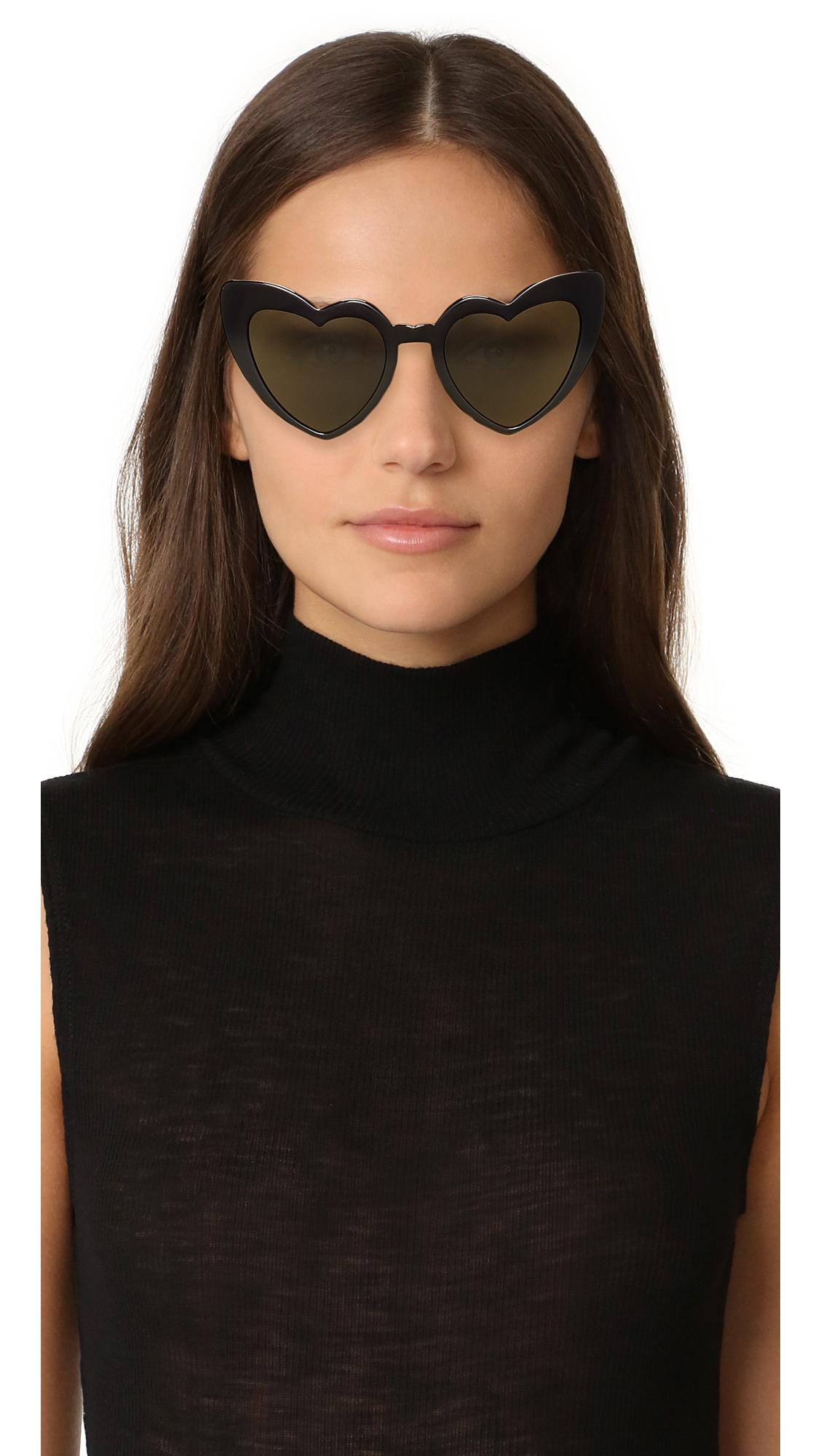 f0e668ac7da Saint Laurent Sl 181 Lou Lou Hearts Sunglasses - Lyst