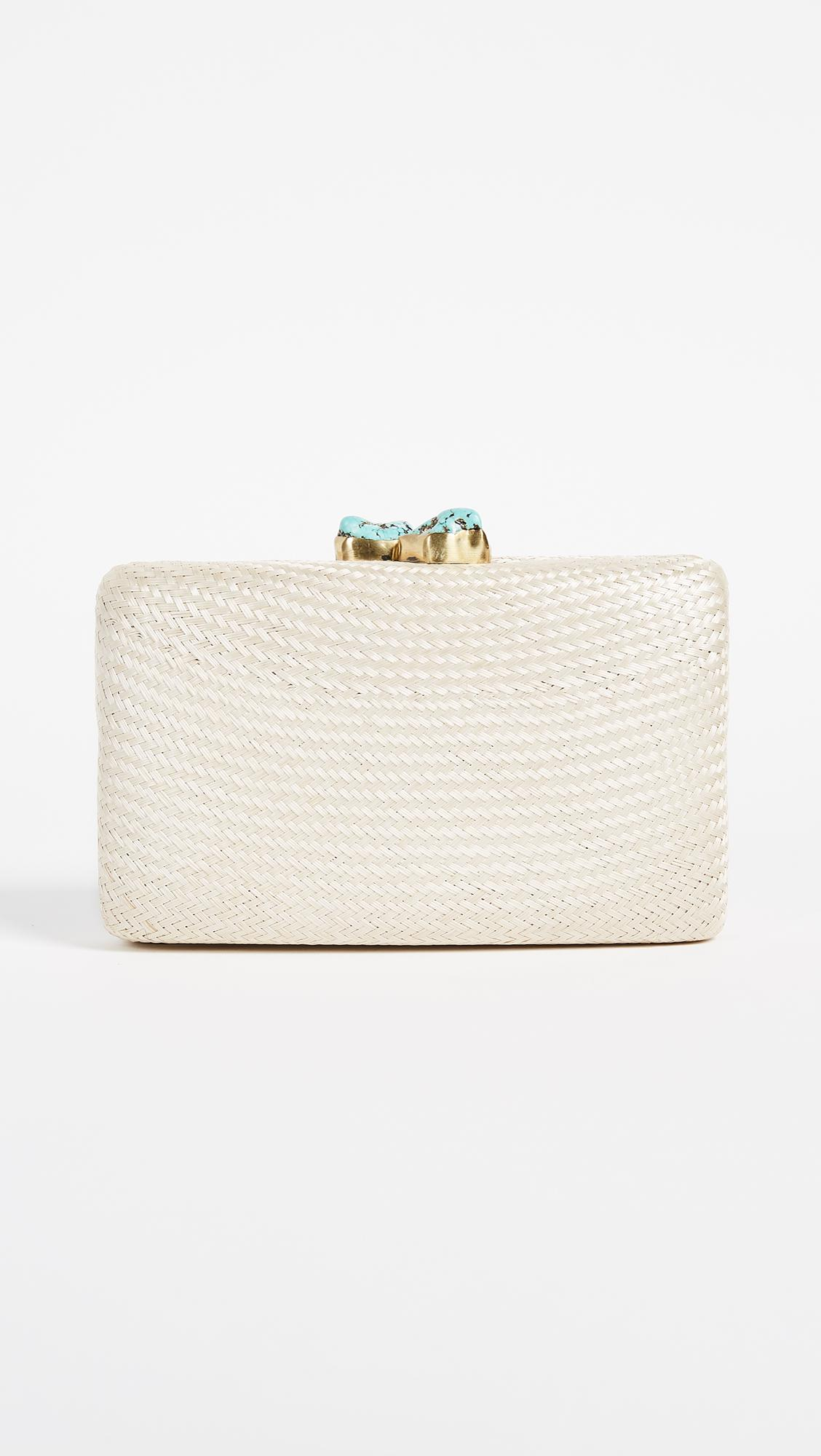 Kayu Jen Clutch with Turquoise Stone