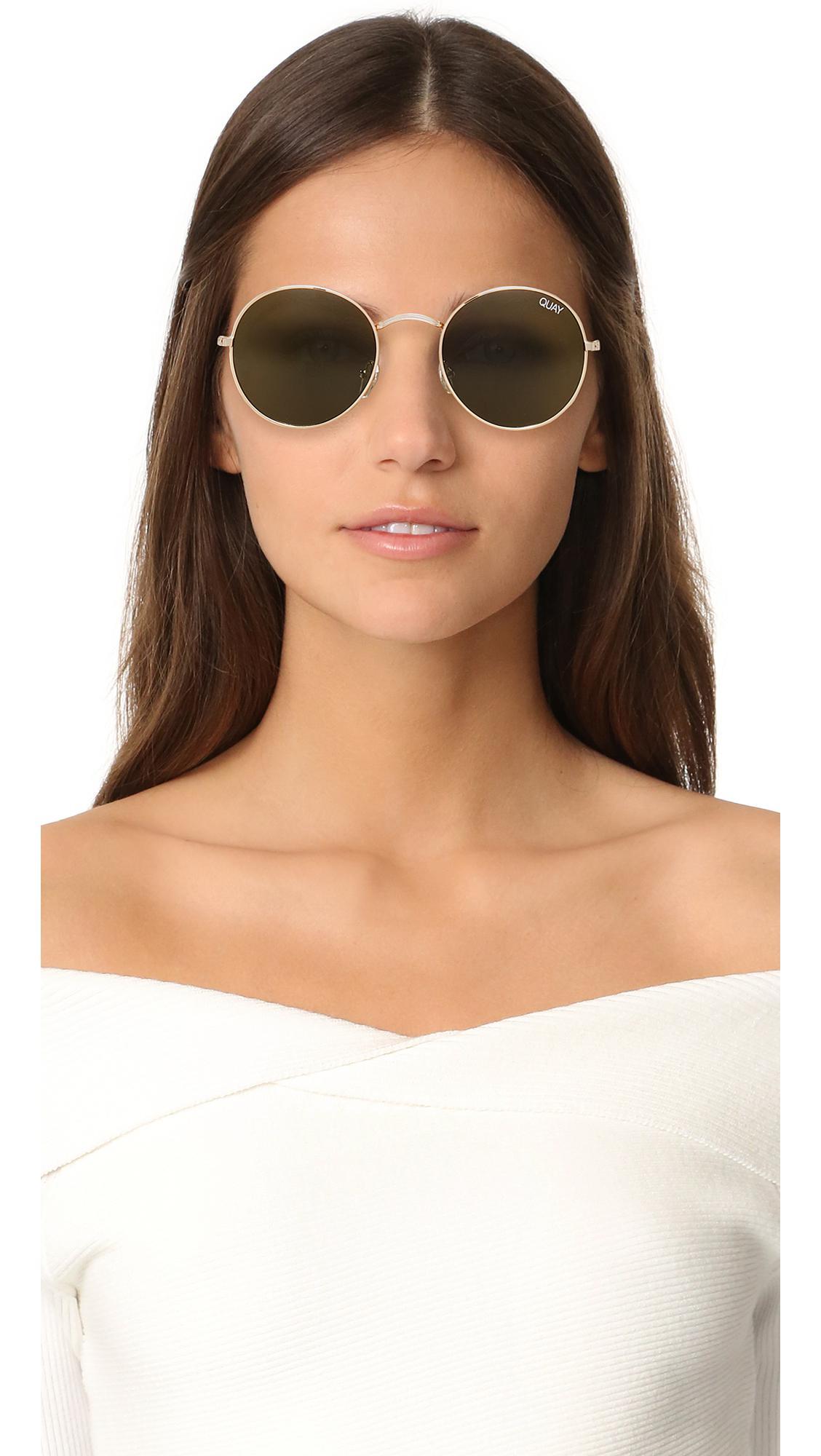 c6982bce9966c Quay - Green Mod Star Sunglasses - Lyst. View fullscreen