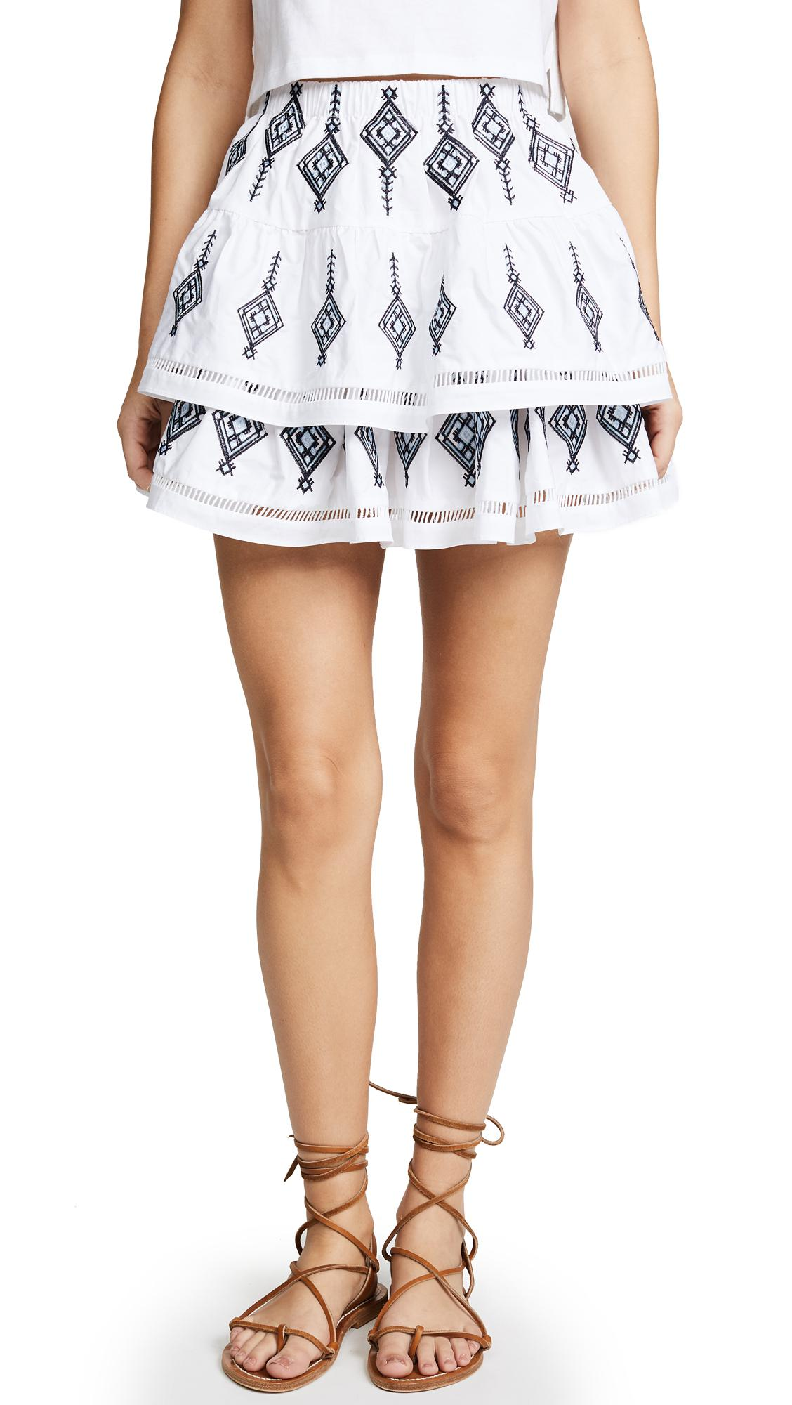 c19cff805 Endless Rose Shirred Mini Skirt in White - Lyst