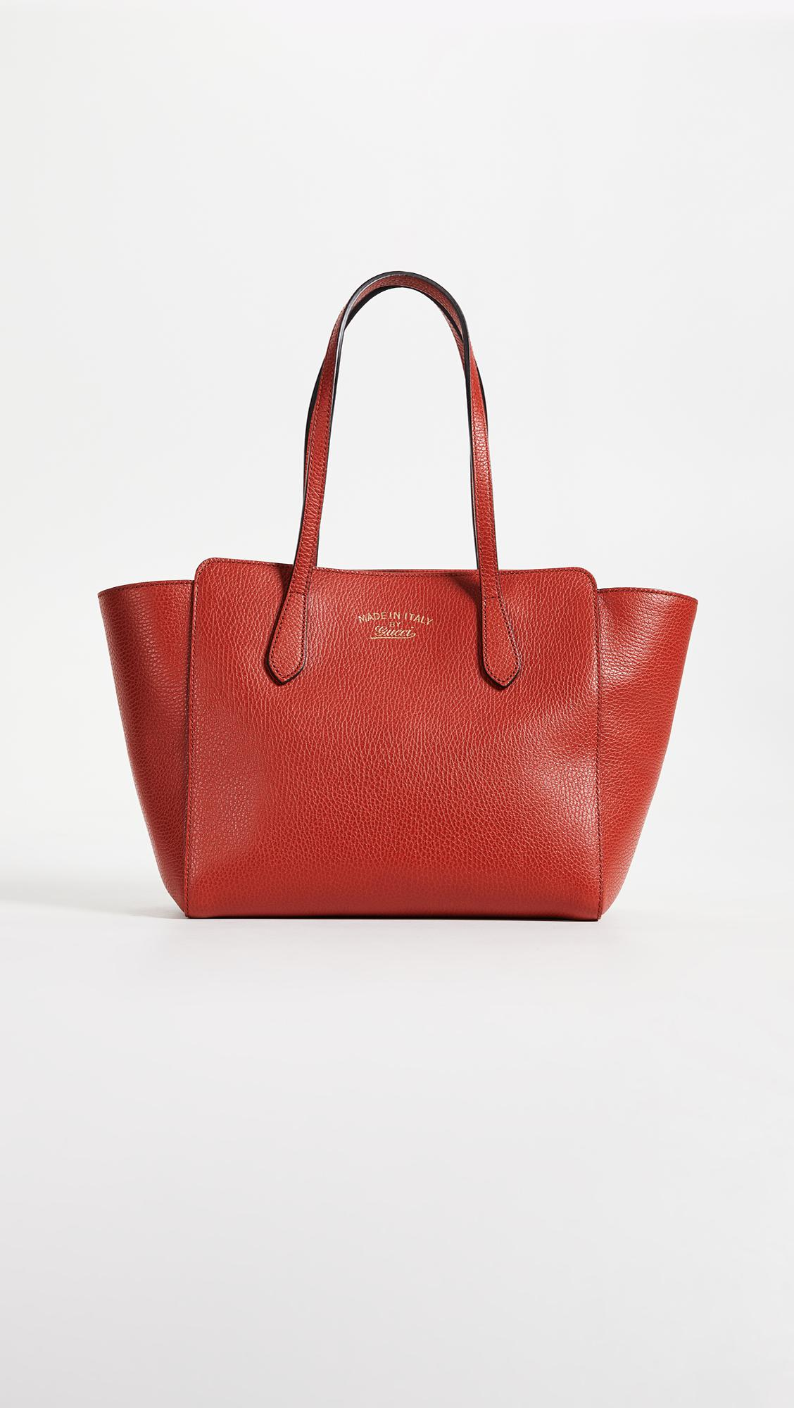f1e383eff06 Lyst - What Goes Around Comes Around Gucci Swing Tote in Red