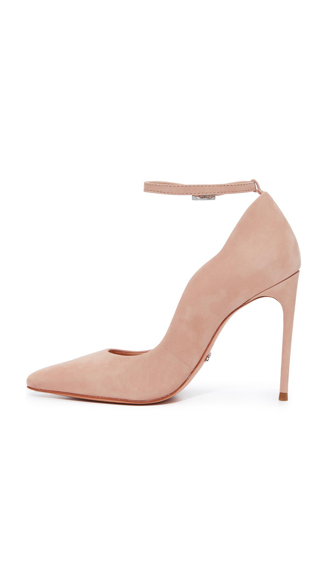 854dcab5b93 Lyst - Schutz Thaynara Ankle Strap Pointed Heels