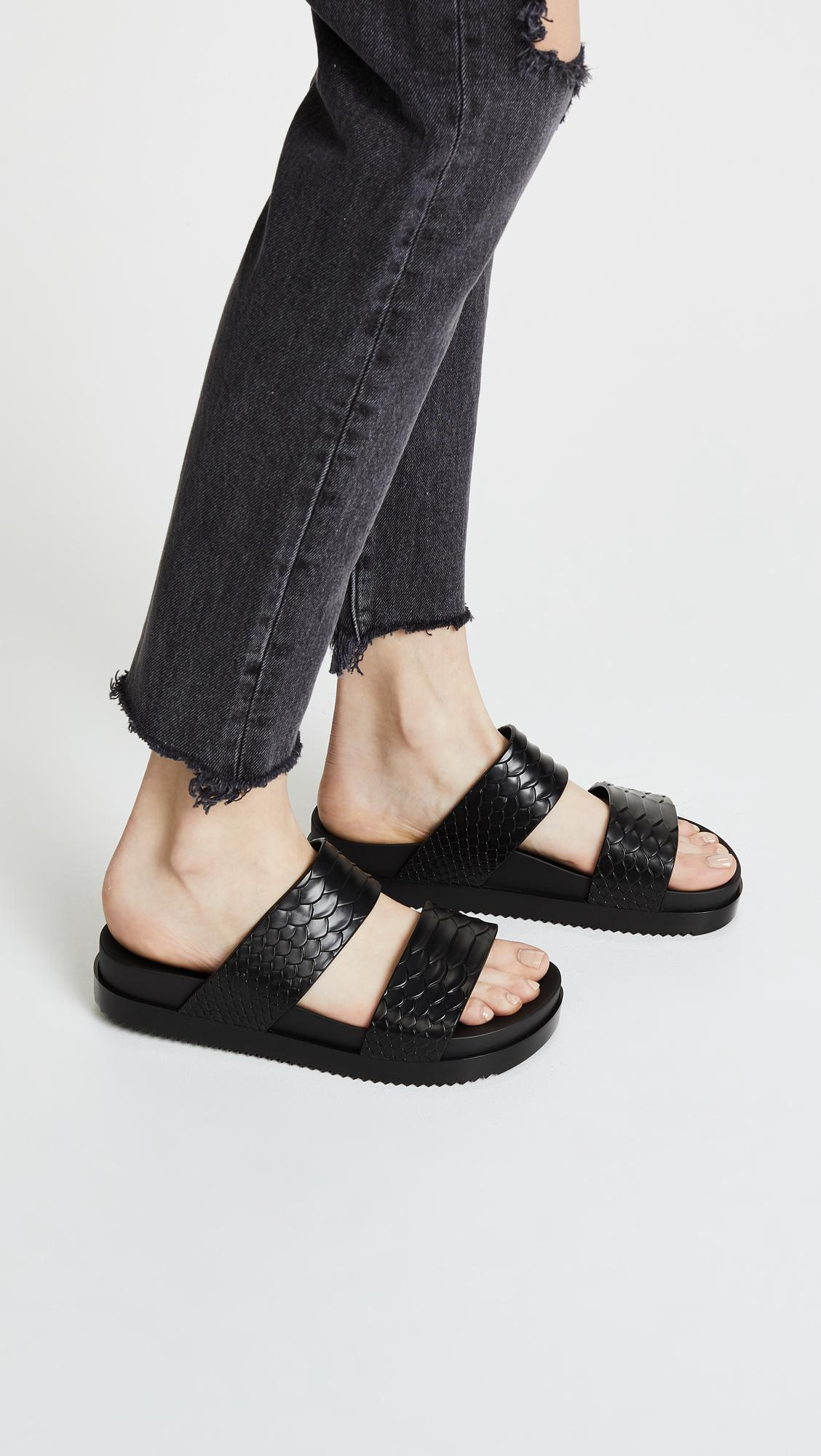 Melissa BAJA EAST COSMIC PYTHON - Pool sliders - black dPvWzPJp