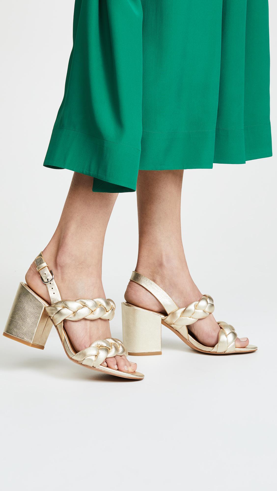 Rebecca Minkoff Women's Candace Suede Slingback Block Heel Sandals wLNTMm