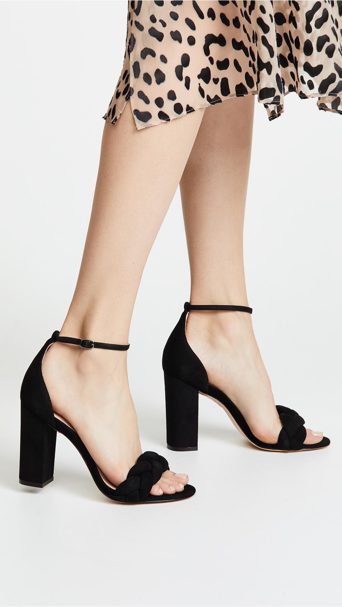 9220bc6217c Lyst - Rachel Zoe Ashton Block Heel City Sandals in Black