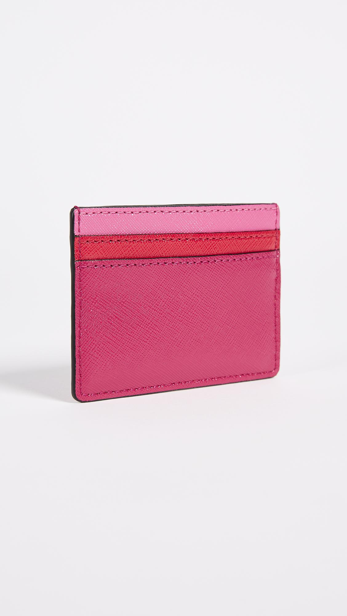 Lyst marc jacobs snapshot card case in pink gallery colourmoves