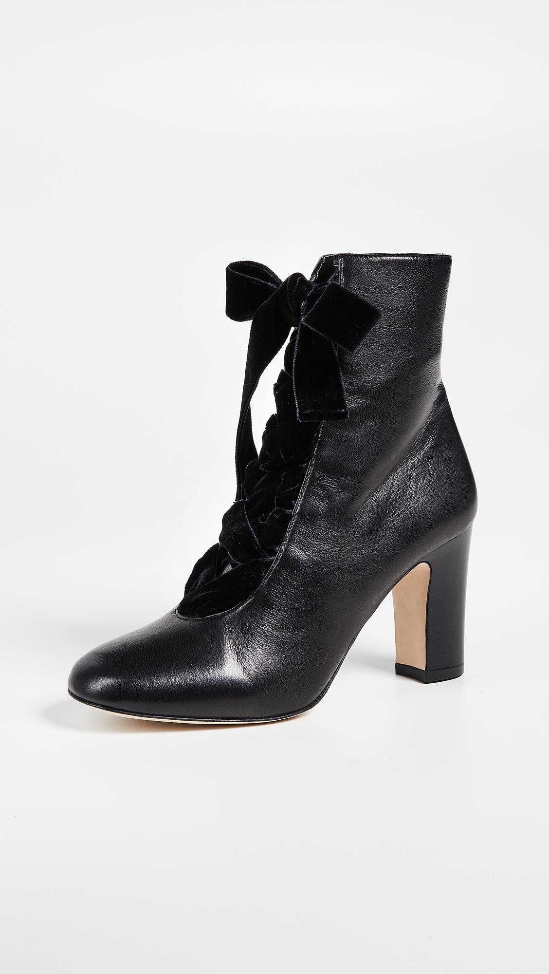 4315cf0e1dd L.K.Bennett Maxine Lace Up Ankle Boots in Black - Lyst