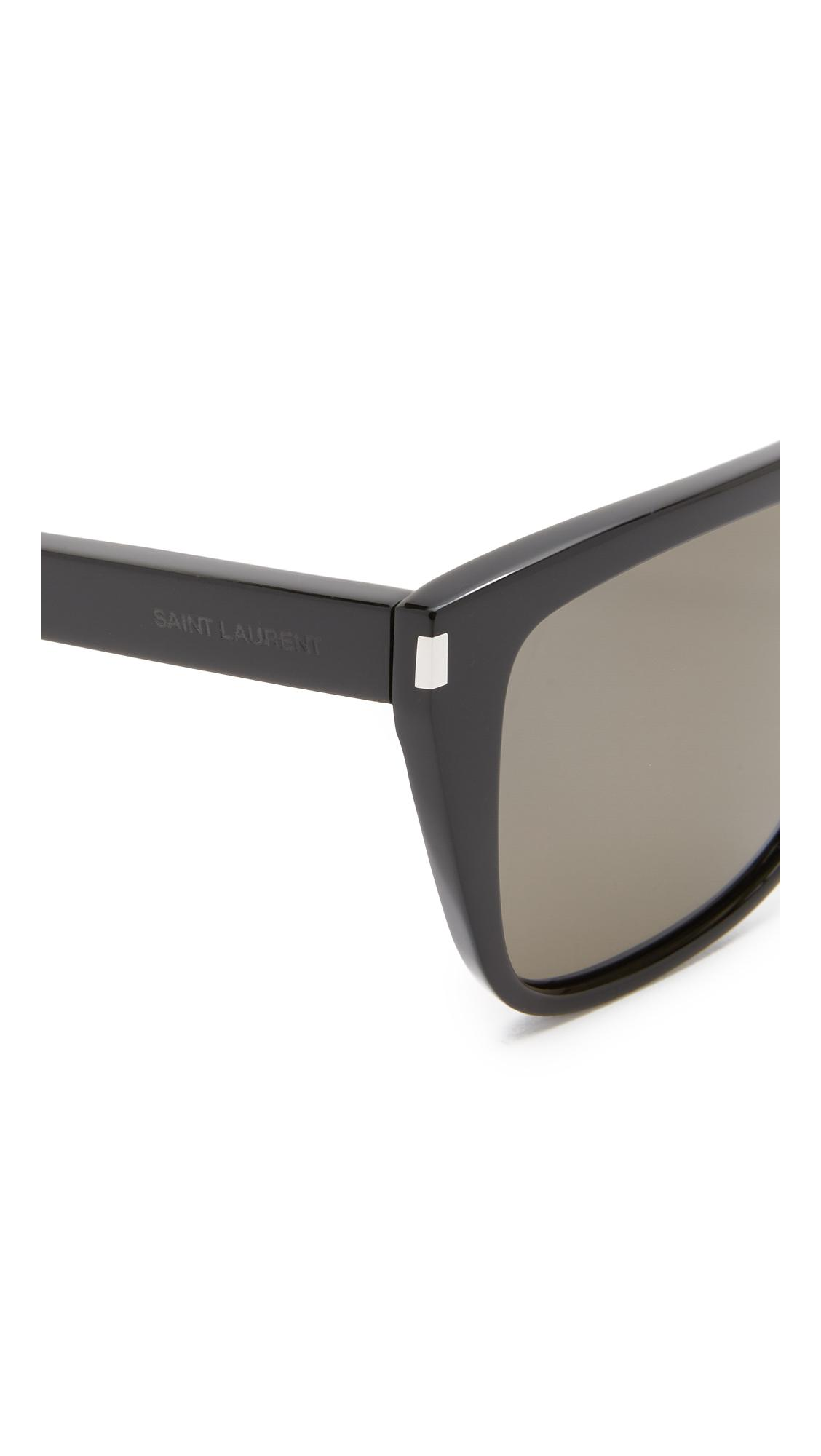 259bb802756 Saint Laurent Sl 1 Mineral Glass Sunglasses in Black - Lyst