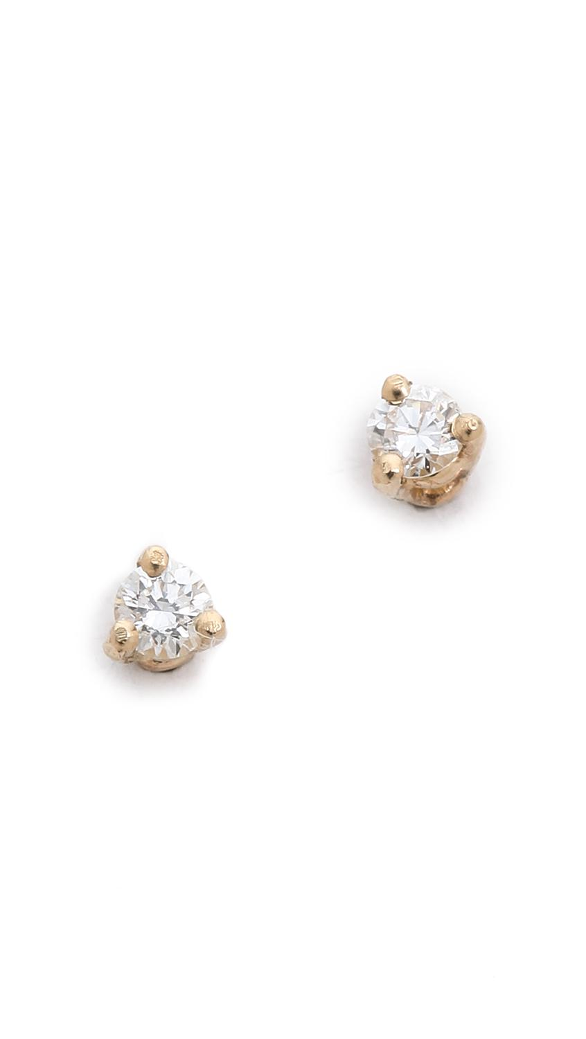 Blanca Monrós Gómez 14k Gold Little Black Diamond Stud Earrings DW3ixbs