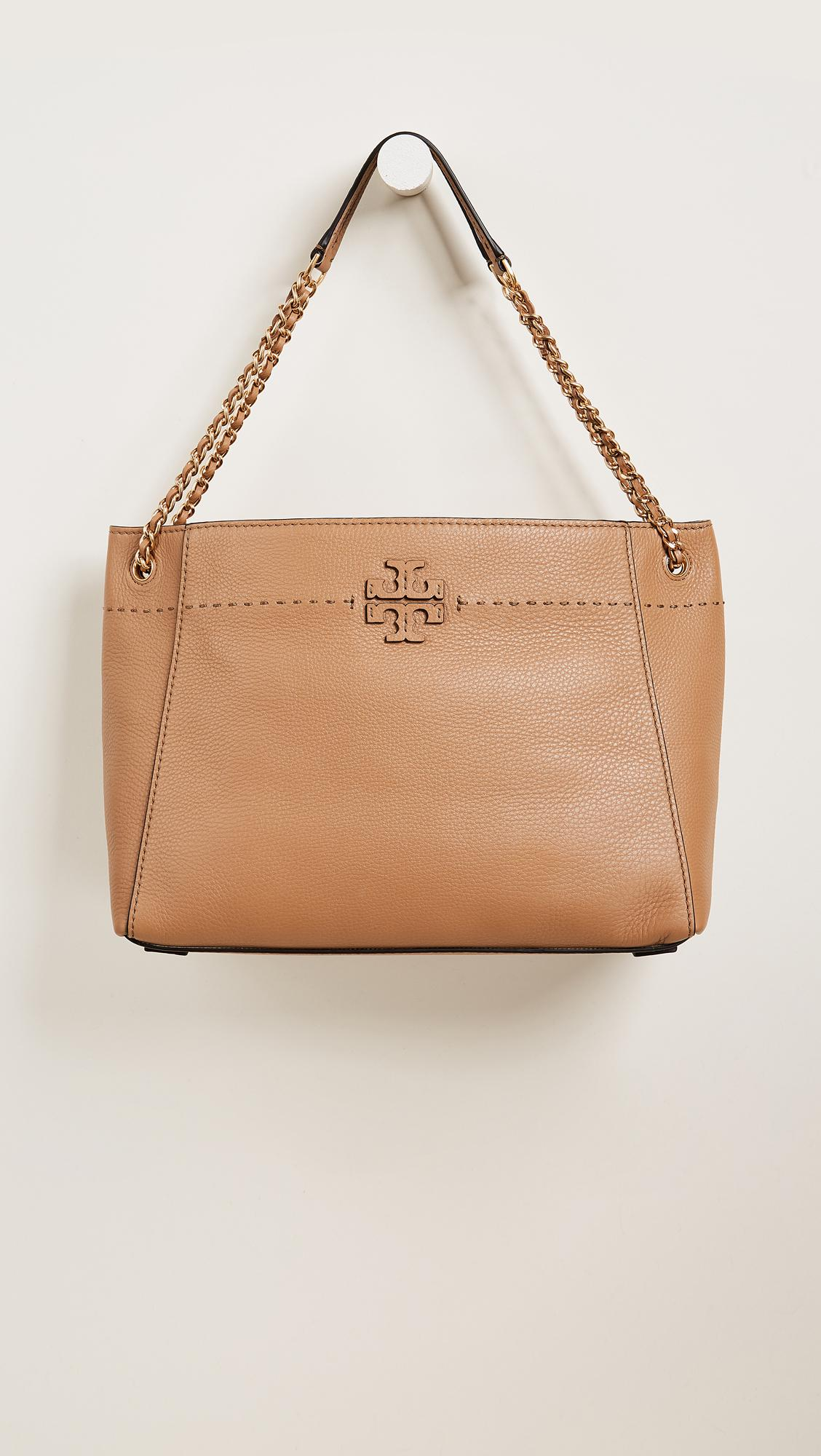 2cf4594fac8 Lyst - Tory Burch Mcgraw Chain Shoulder Slouchy Tote