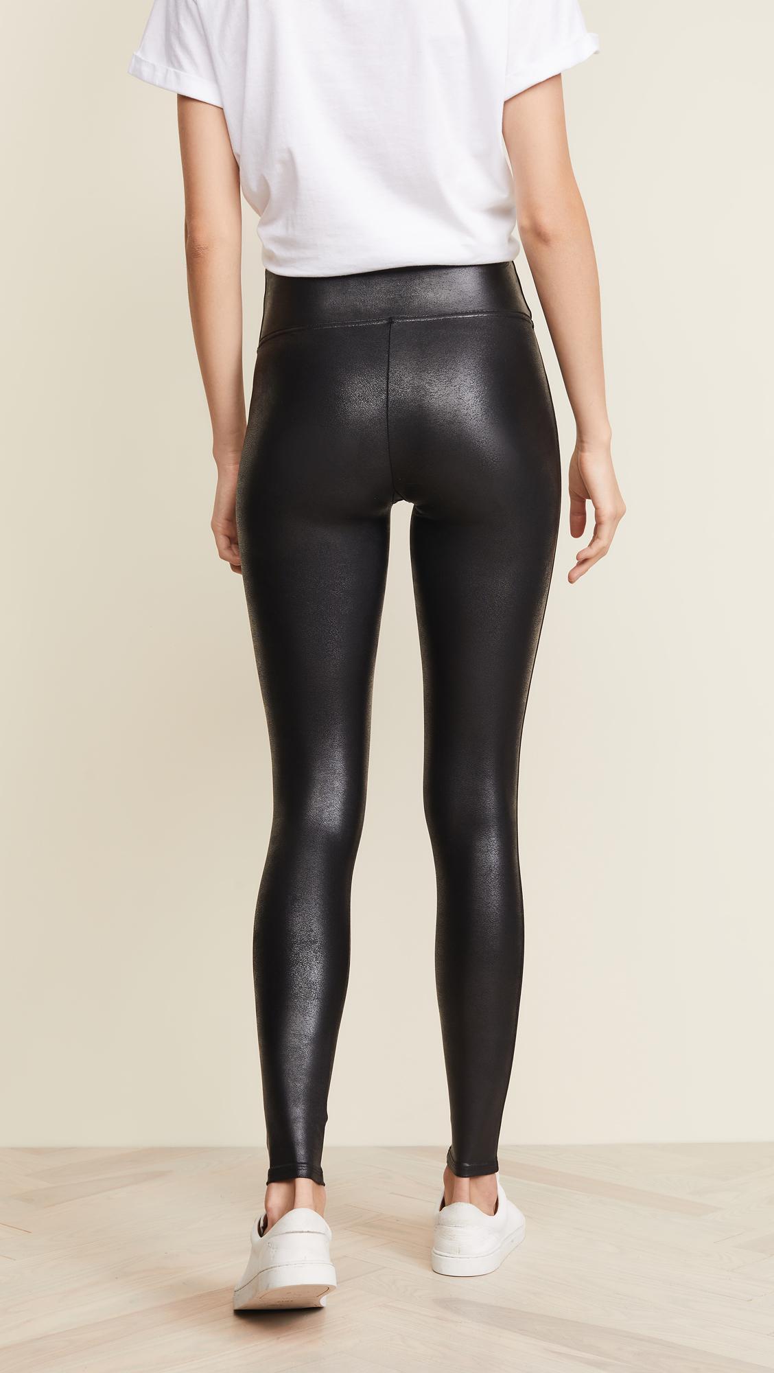 ddd1f80e59948 Spanx Petite Faux Leather Leggings in Black - Lyst