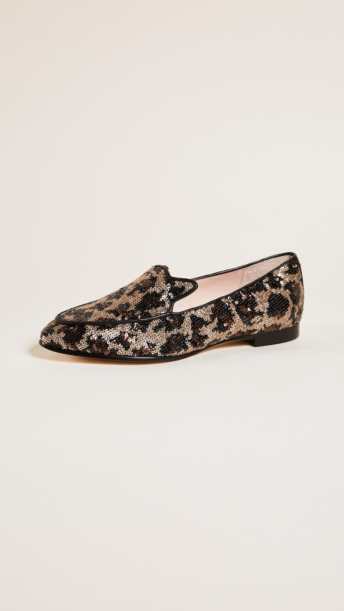 Gold Sequin Slip On Shoes