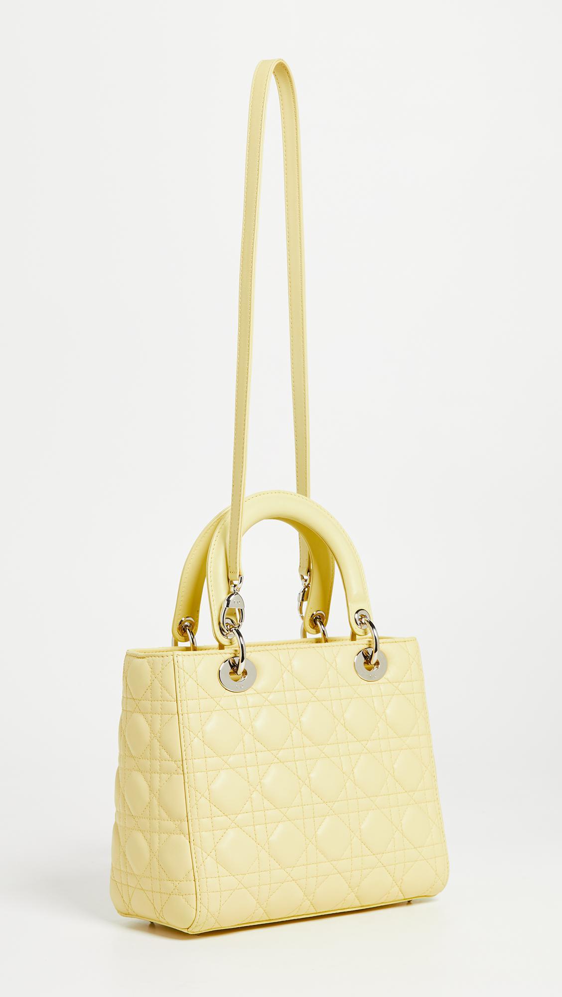2c22f537b9d4 Lyst - What Goes Around Comes Around Dior Lambskin Medium Lady Dior ...