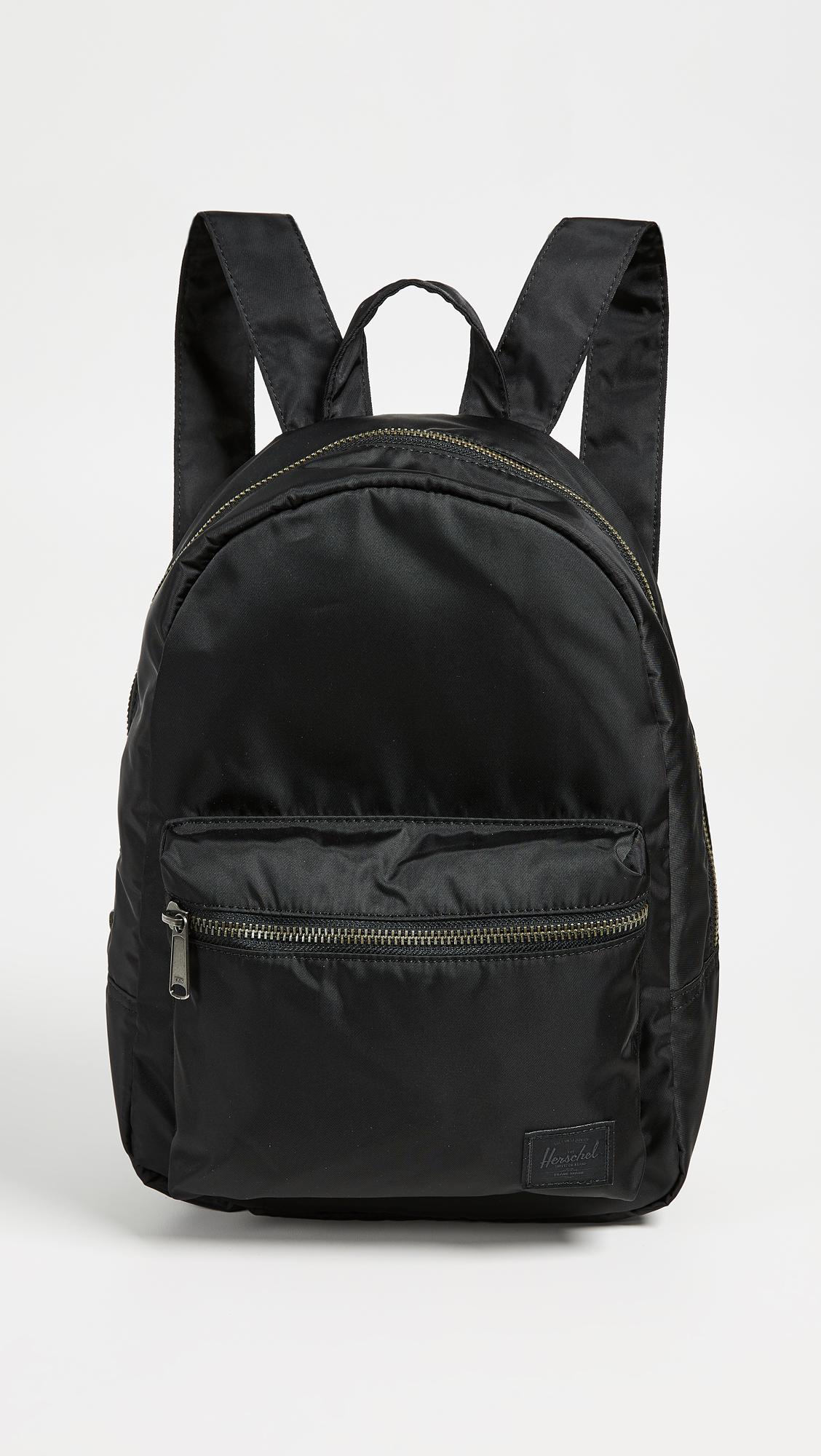 853841506ccf Lyst - Herschel Supply Co. Flight Satin Grove X Small Backpack in Black