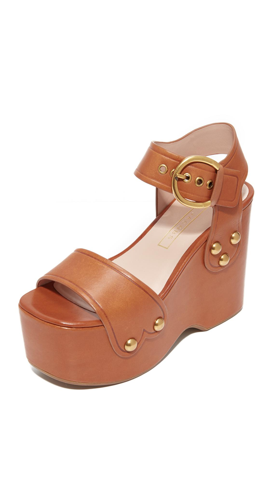 f8c52fc0abc7 Lyst - Marc Jacobs Lana Wedge Sandals in Brown