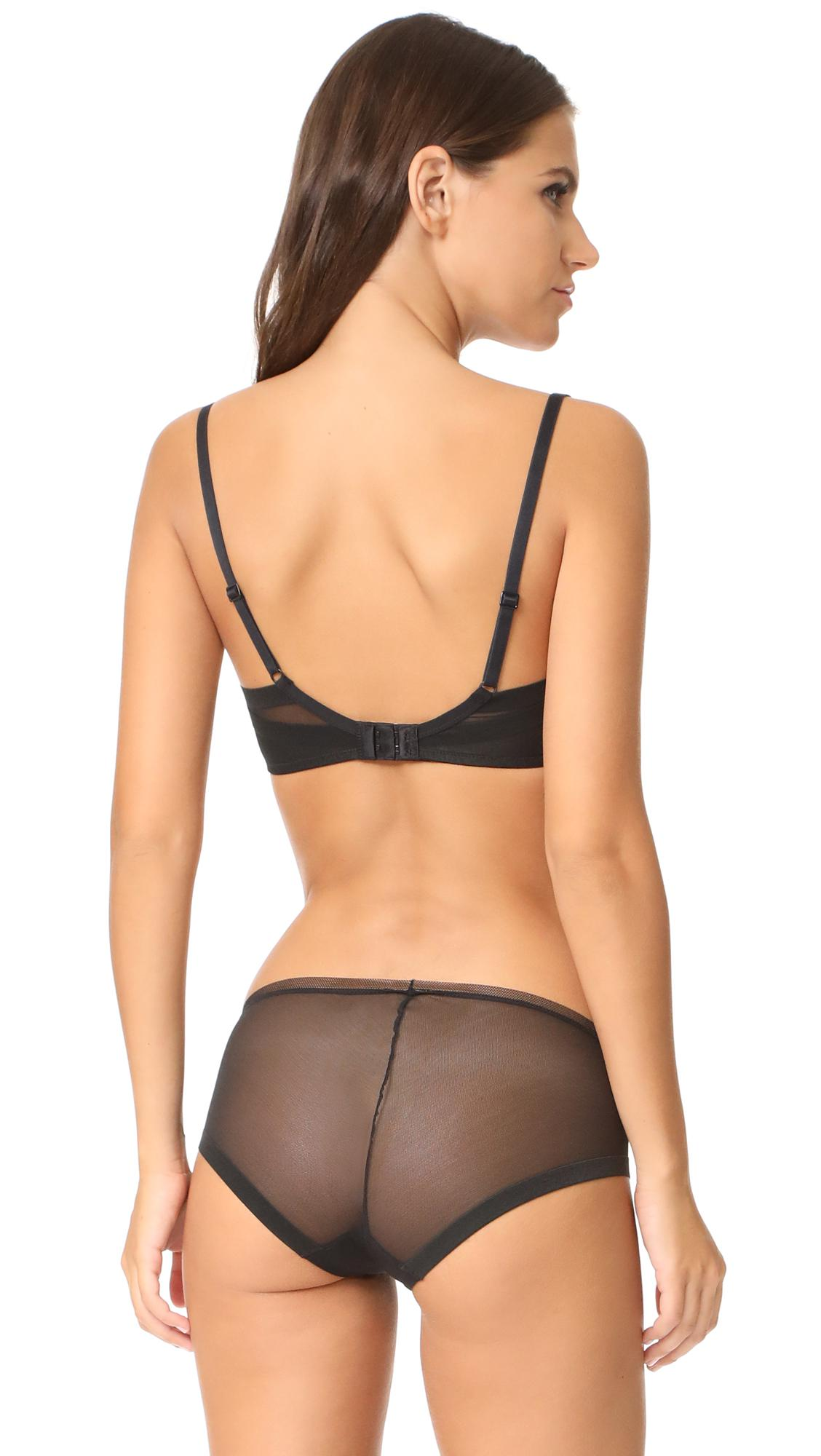 84e5c111a448e Lyst - Calvin Klein Sculpted Lightly Lined Triangle Bra in Black