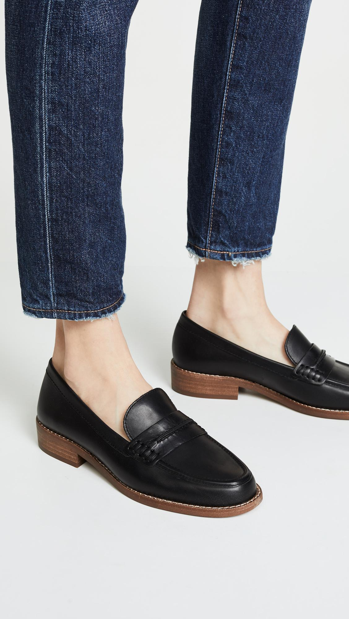 7634fe5de2b Madewell - Black The Elinor Loafers - Lyst. View fullscreen