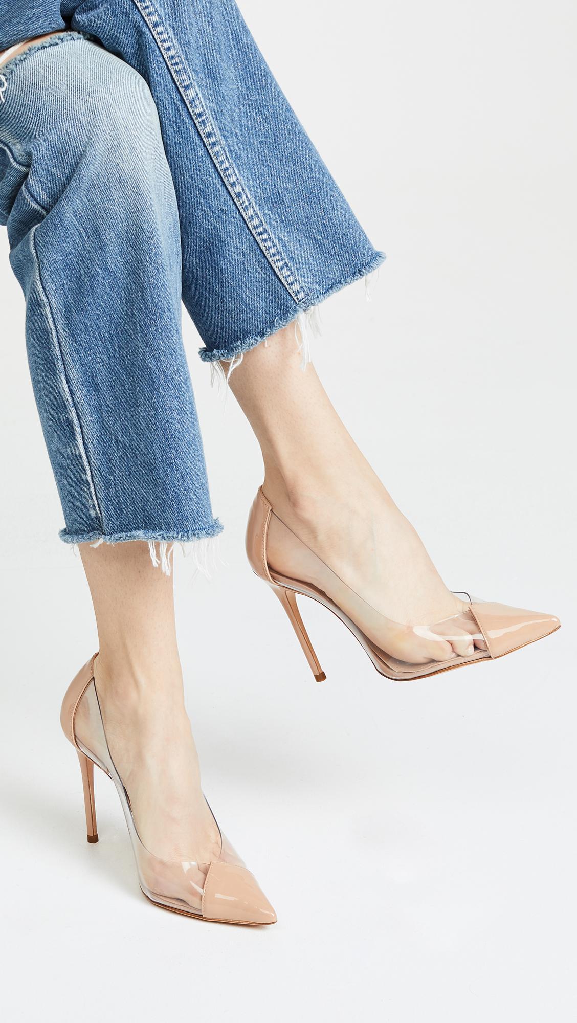 5bc333691796f Schutz - Natural Women s Cendi Patent Leather High-heel Pumps - Lyst. View  fullscreen