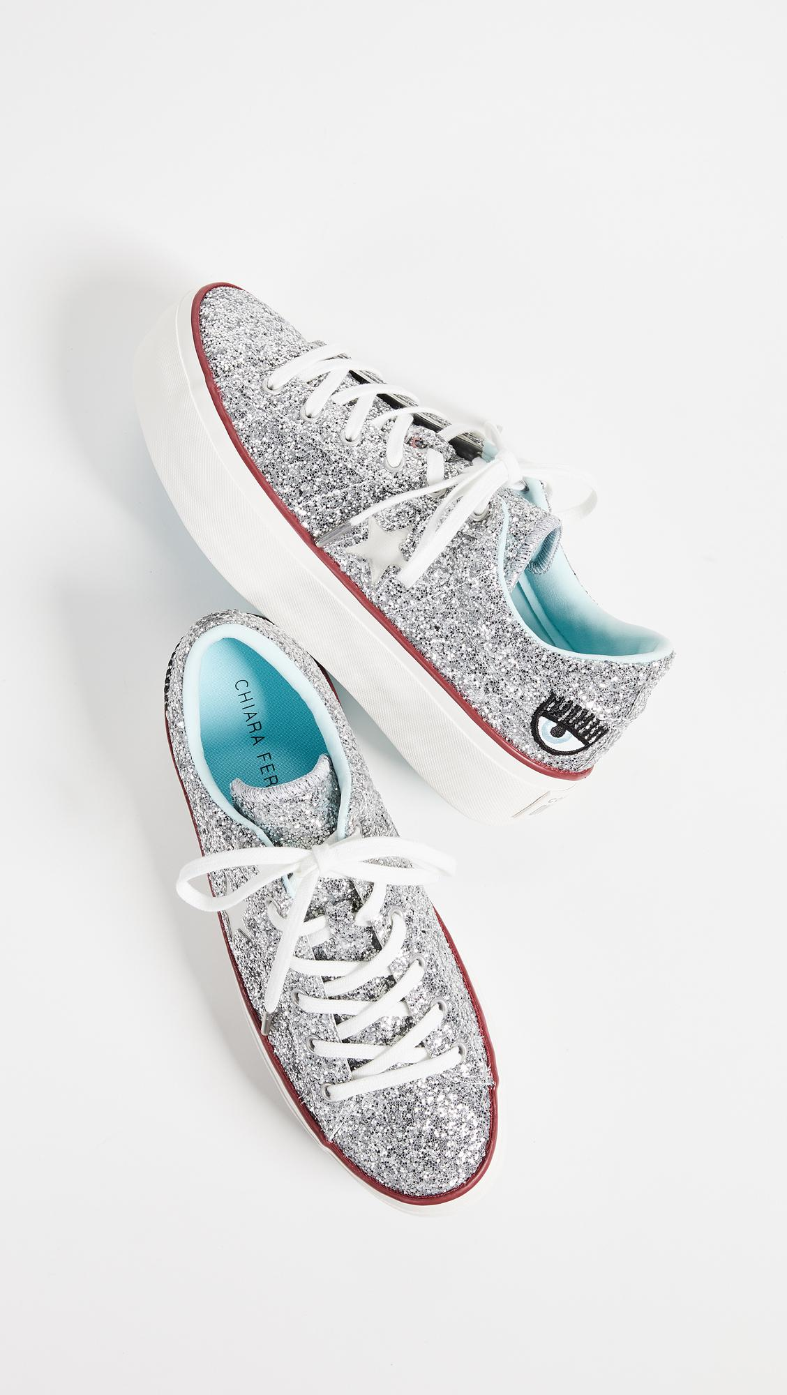 605a83fb4716 Lyst - Converse X Chiara Ferragni Sneakers in Metallic