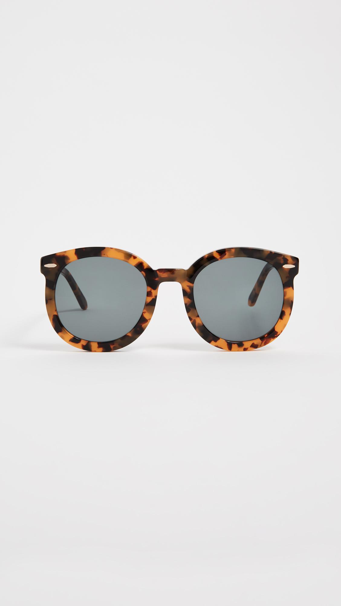 1c73358832 Karen Walker Super Duper Strength Sunglasses in Brown - Lyst