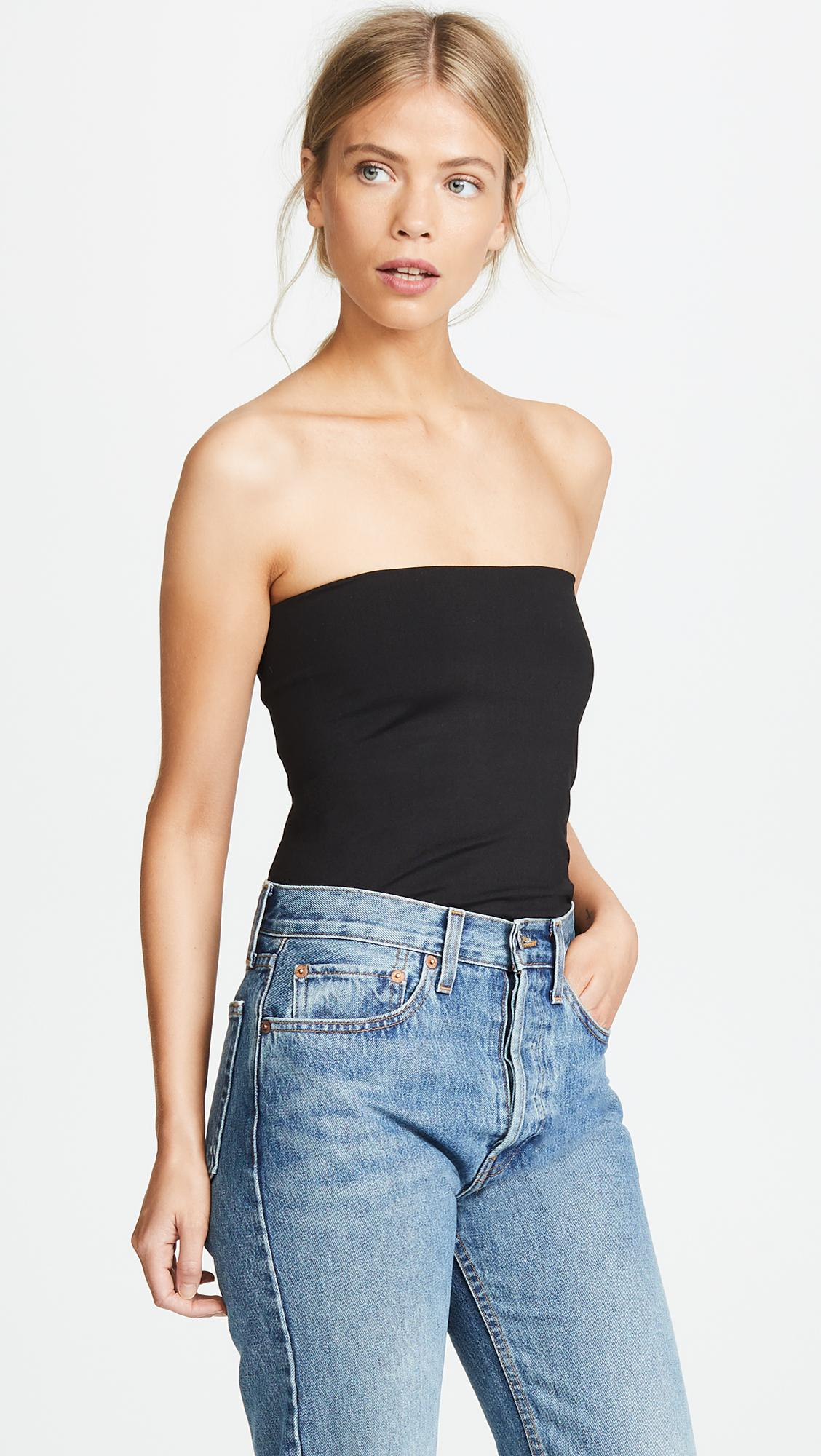 a93a933ab2f18 Susana Monaco Tube Top in Black - Save 1.6949152542372872% - Lyst