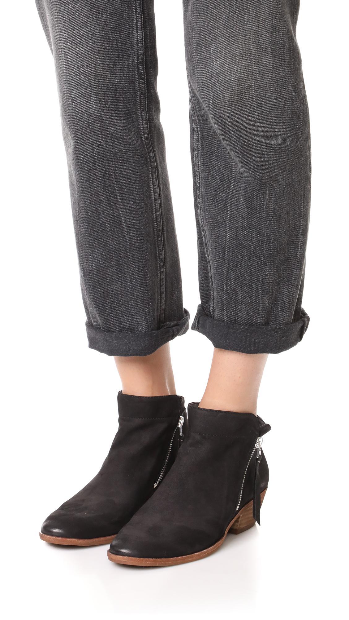 Sam Edelman Women's Packer Leather Low Heel Booties IURc72