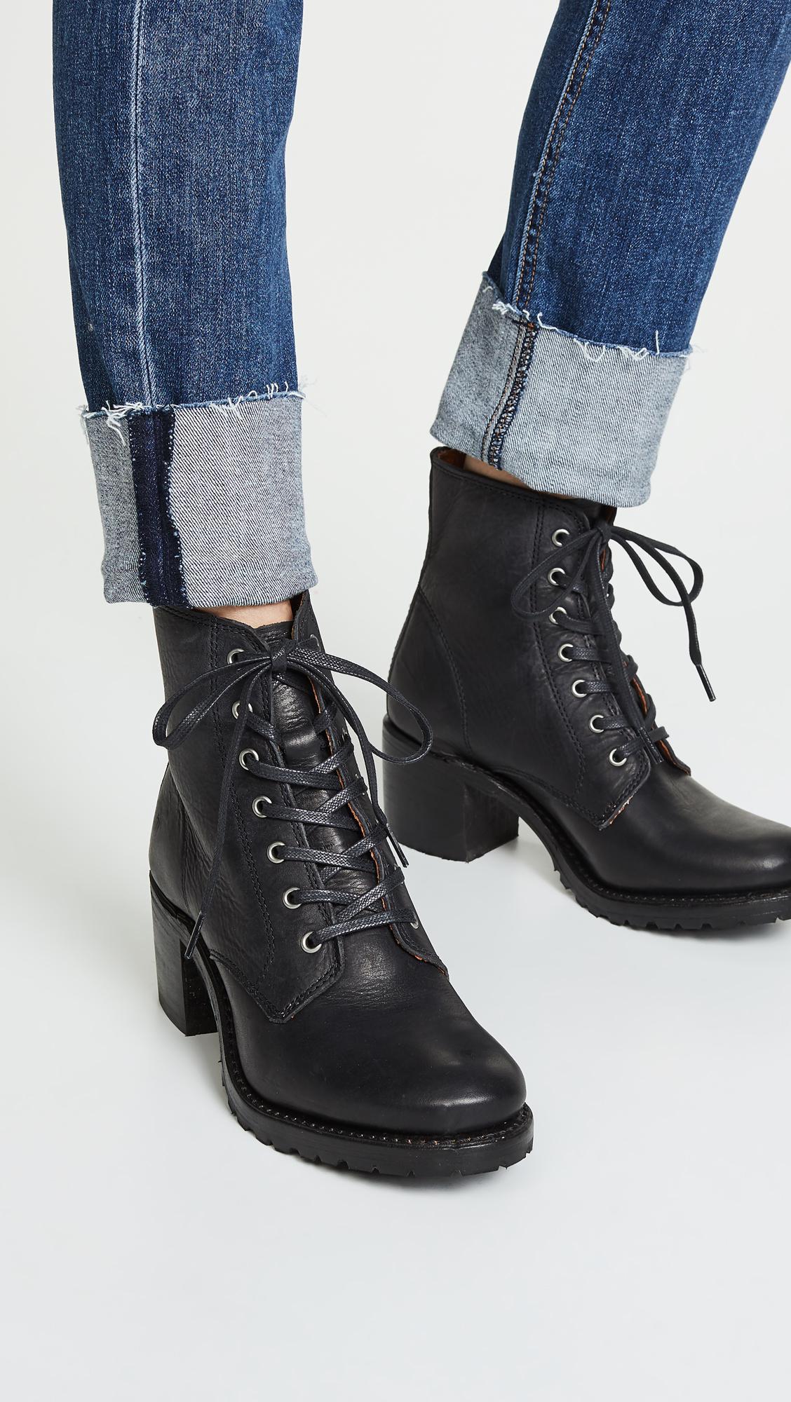 ae4d4512380f Frye - Black Sabrina 6g Lace Up Boots - Lyst. View fullscreen