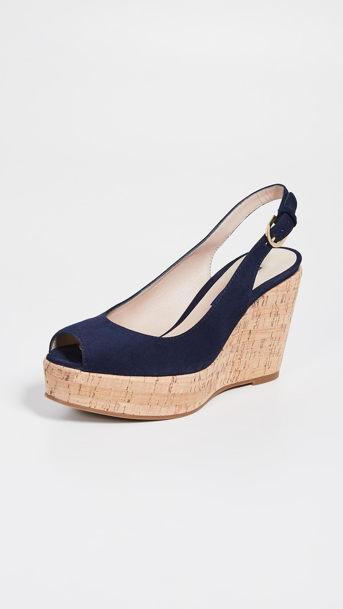 be9fc5e35e0a Stuart Weitzman Jean Slingbacks in Blue - Lyst
