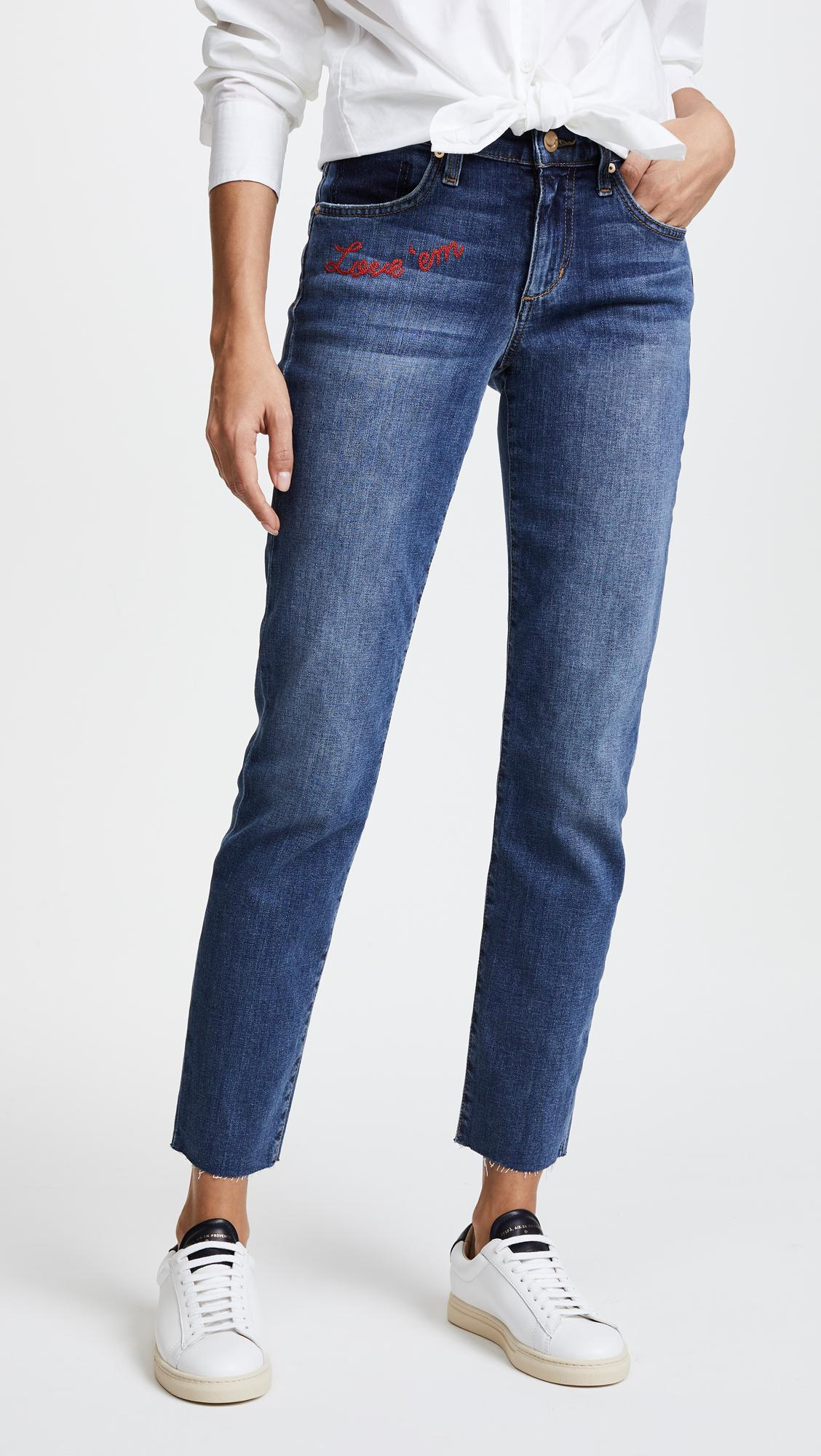 Lyst joe s jeans the embroidered smith ankle in blue