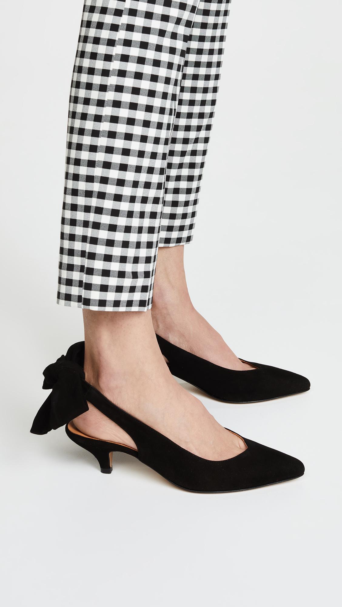4d2c37ab3777 Lyst - Ganni Bow Kitten Heels in Black