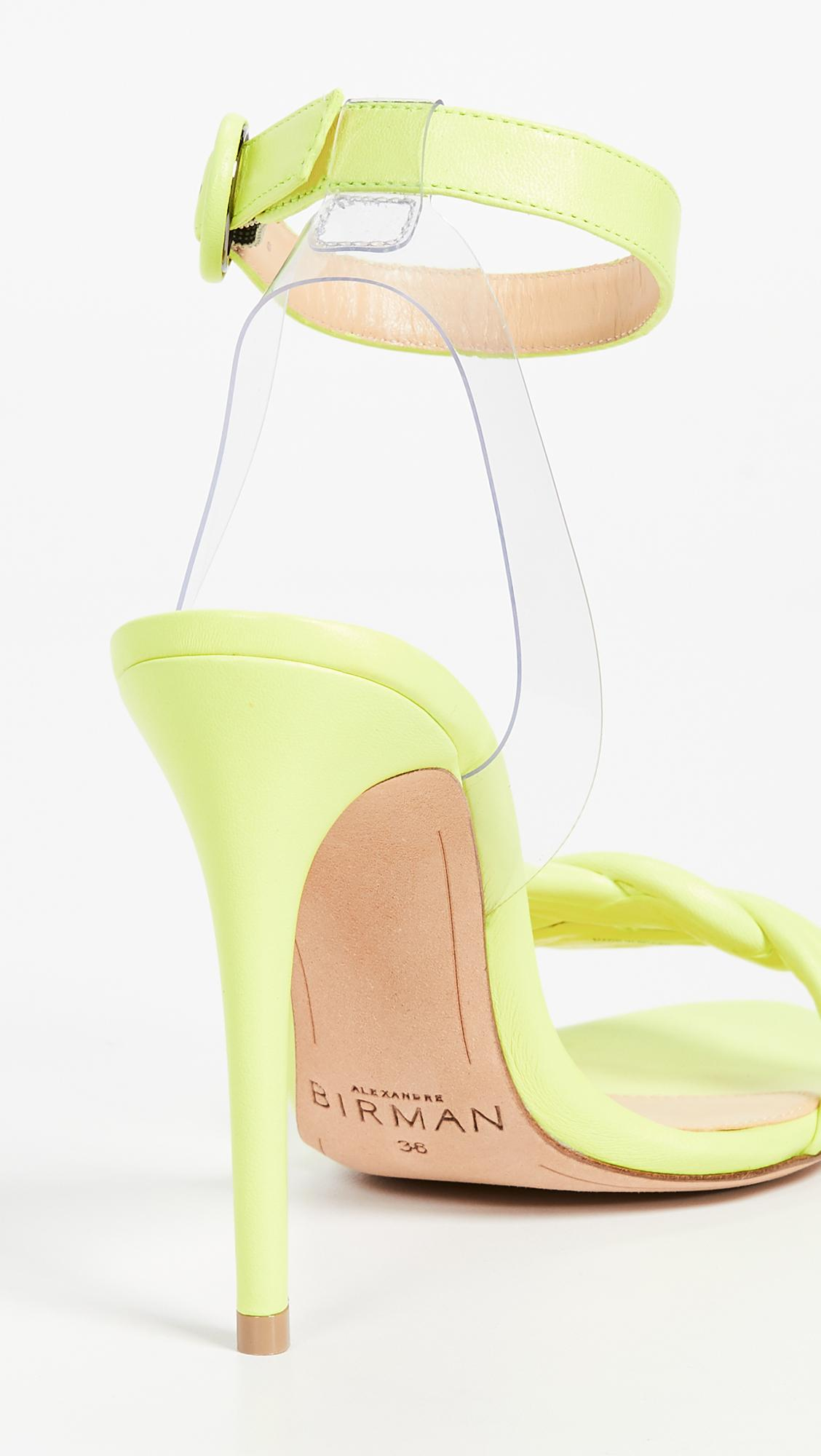 53c09960a Alexandre Birman - Yellow Vicky Vinyl 100mm Sandals - Lyst. View fullscreen
