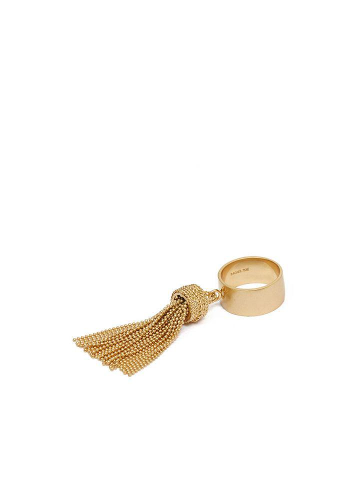 Rachel Zoe Georgie Fringe Earrings in Metallic Gold U9j3xkusYc