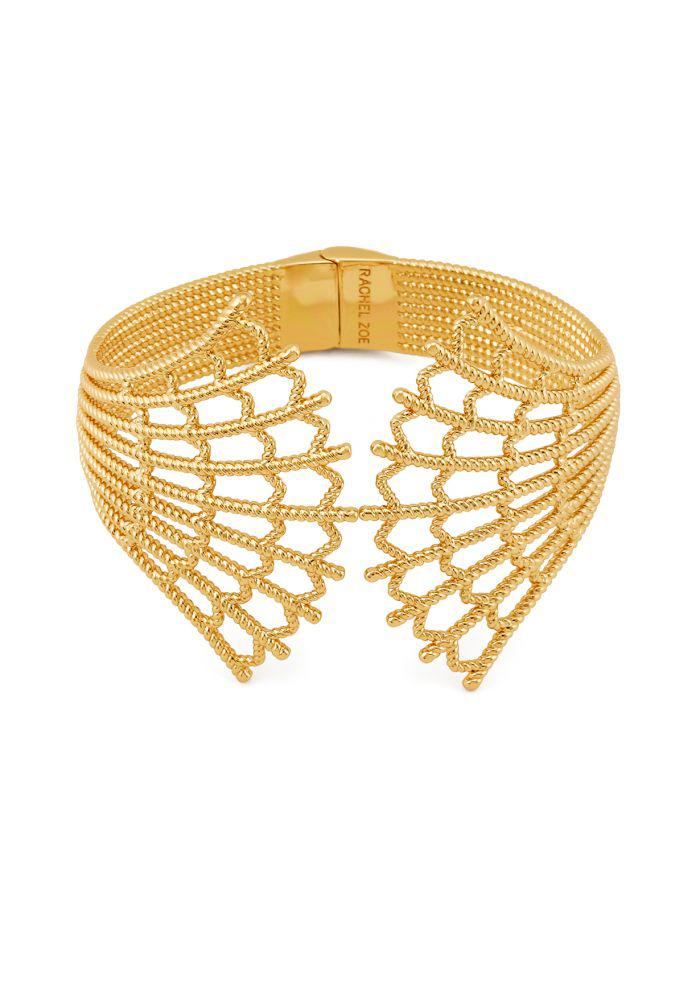Rachel Zoe Jasmine Multi-Layer Chain Cuff Gold SNhkO