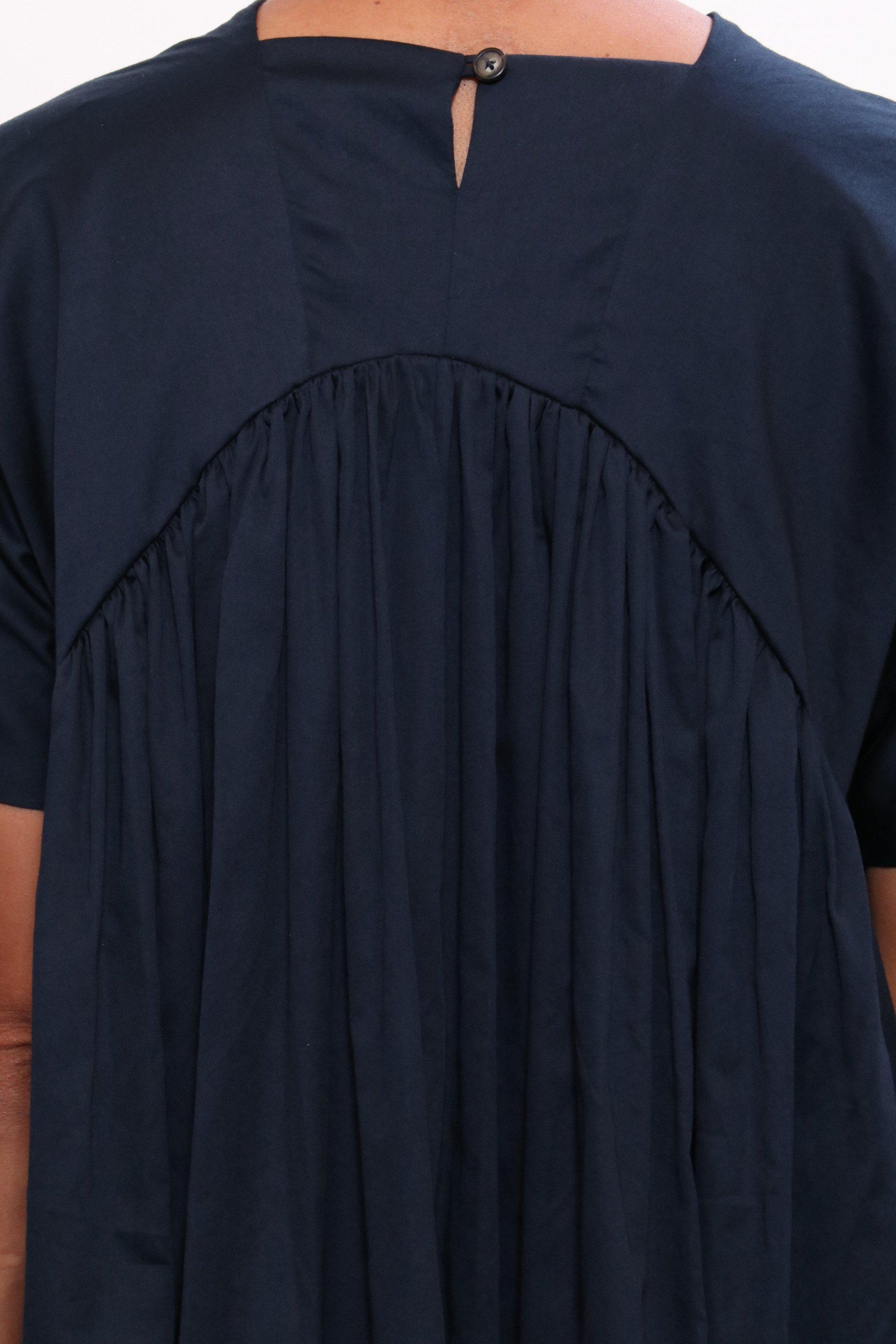 eb55ce5310e Black Crane - Blue Petal Dress In Dark Navy - Lyst. View fullscreen