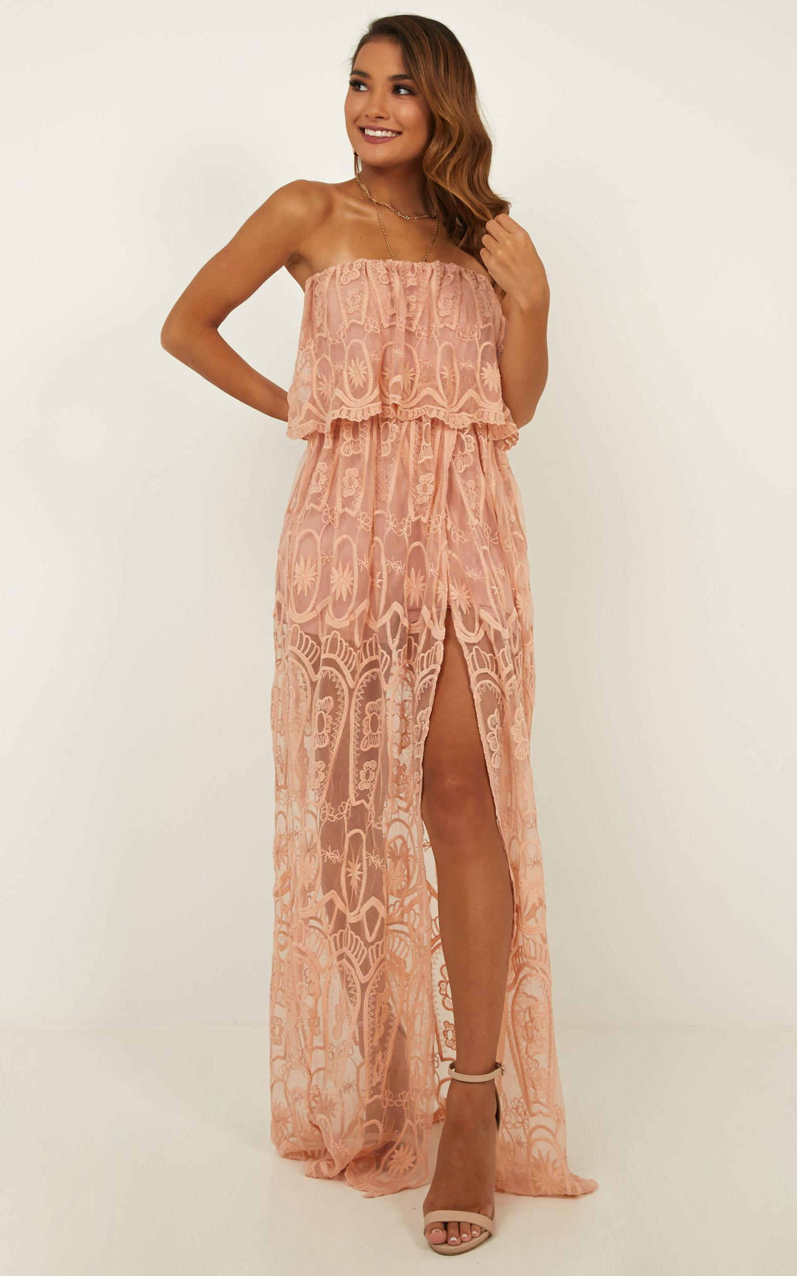 74f36261b30 Showpo. Women s Walk The Line Maxi Playsuit