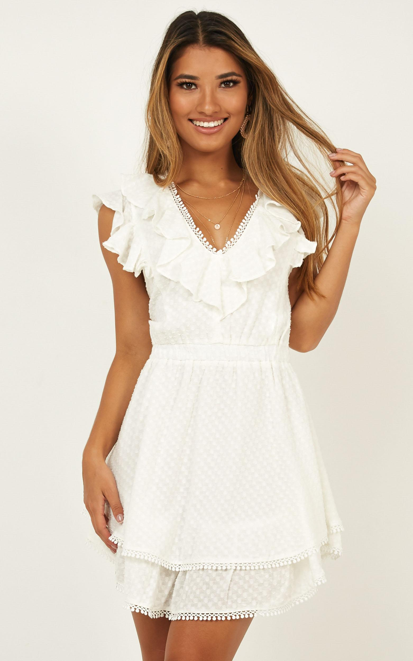 b52a5283386 Lyst - Showpo Fly North Dress in White