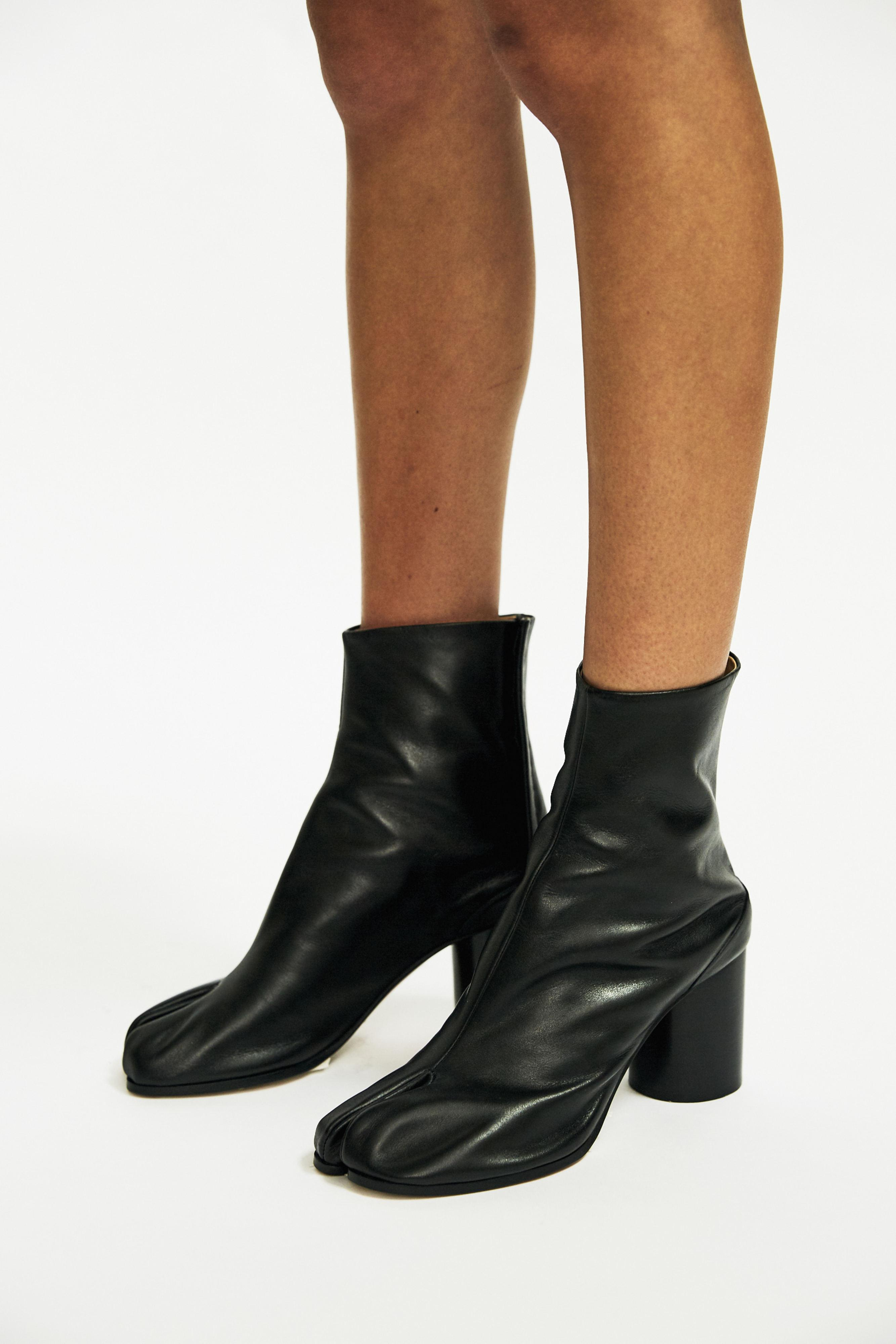 Lyst Maison Margiela Tabi Ankle Boots In Black