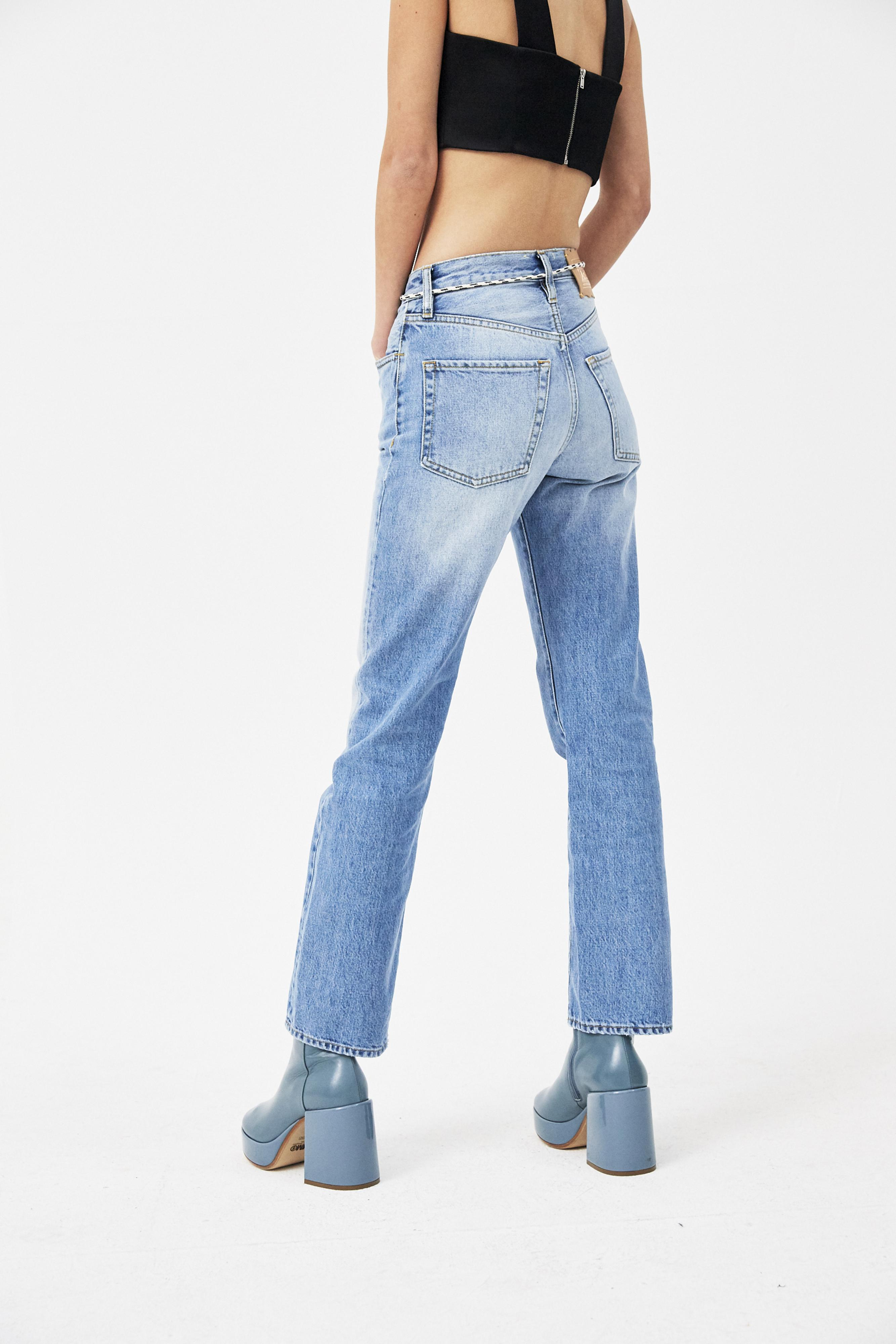 1565ad8961784b Aries Lilly Selvedge 90s Pale Jeans in Blue - Lyst